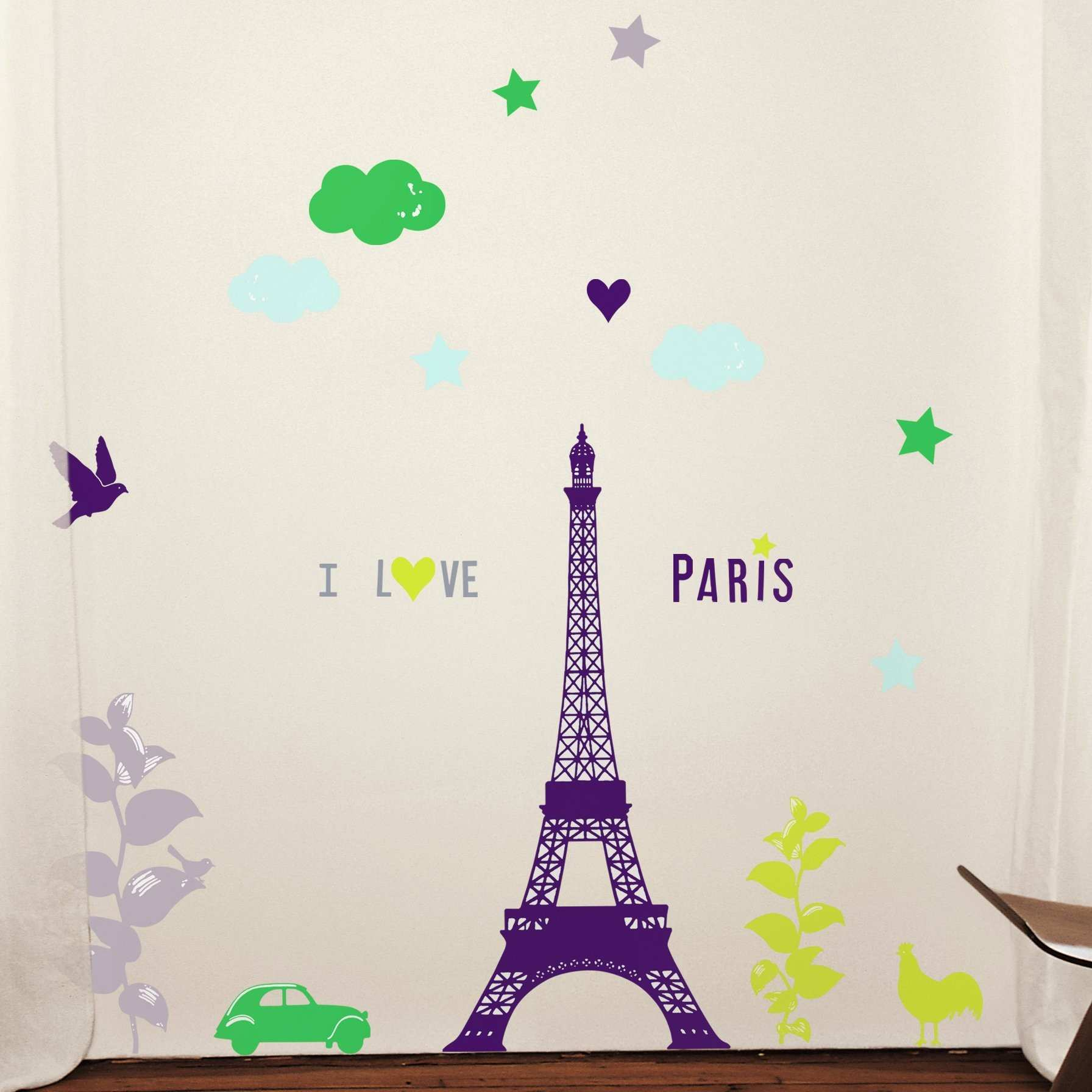 Retrospect Group I love Paris Decorative Wall Decal