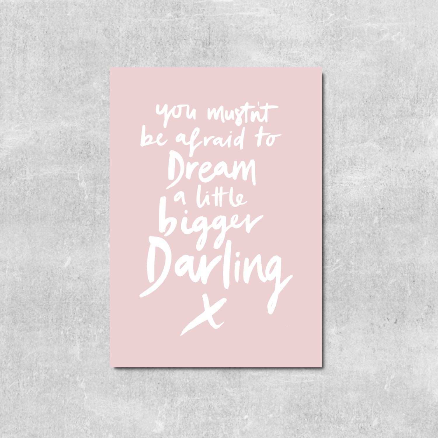 Dream Big Girls Nursery Print Girls Room Wall Art Gift For Young