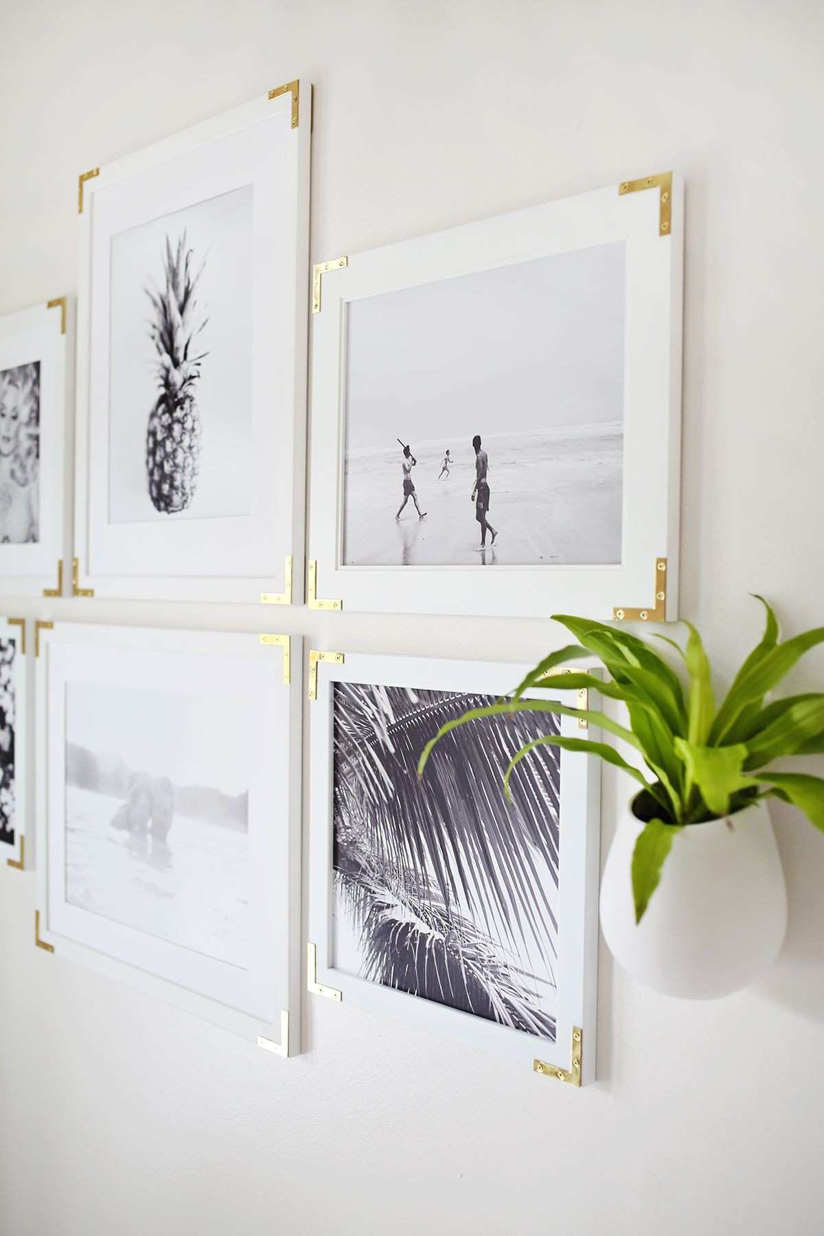 Try This Update Simple Frames With Gold Hardware