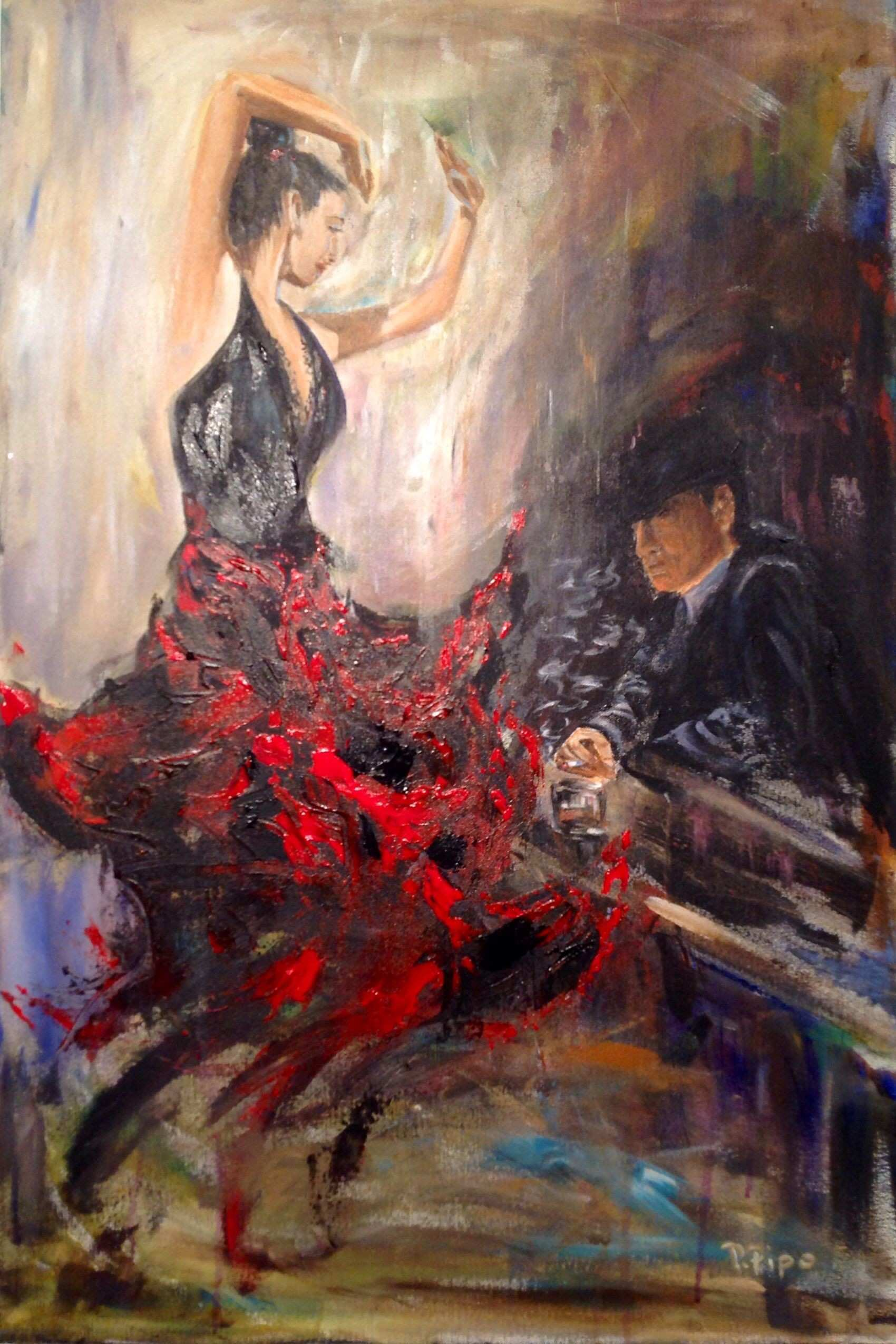 Piroska Pipo knows how to incorporate movement into her paintings