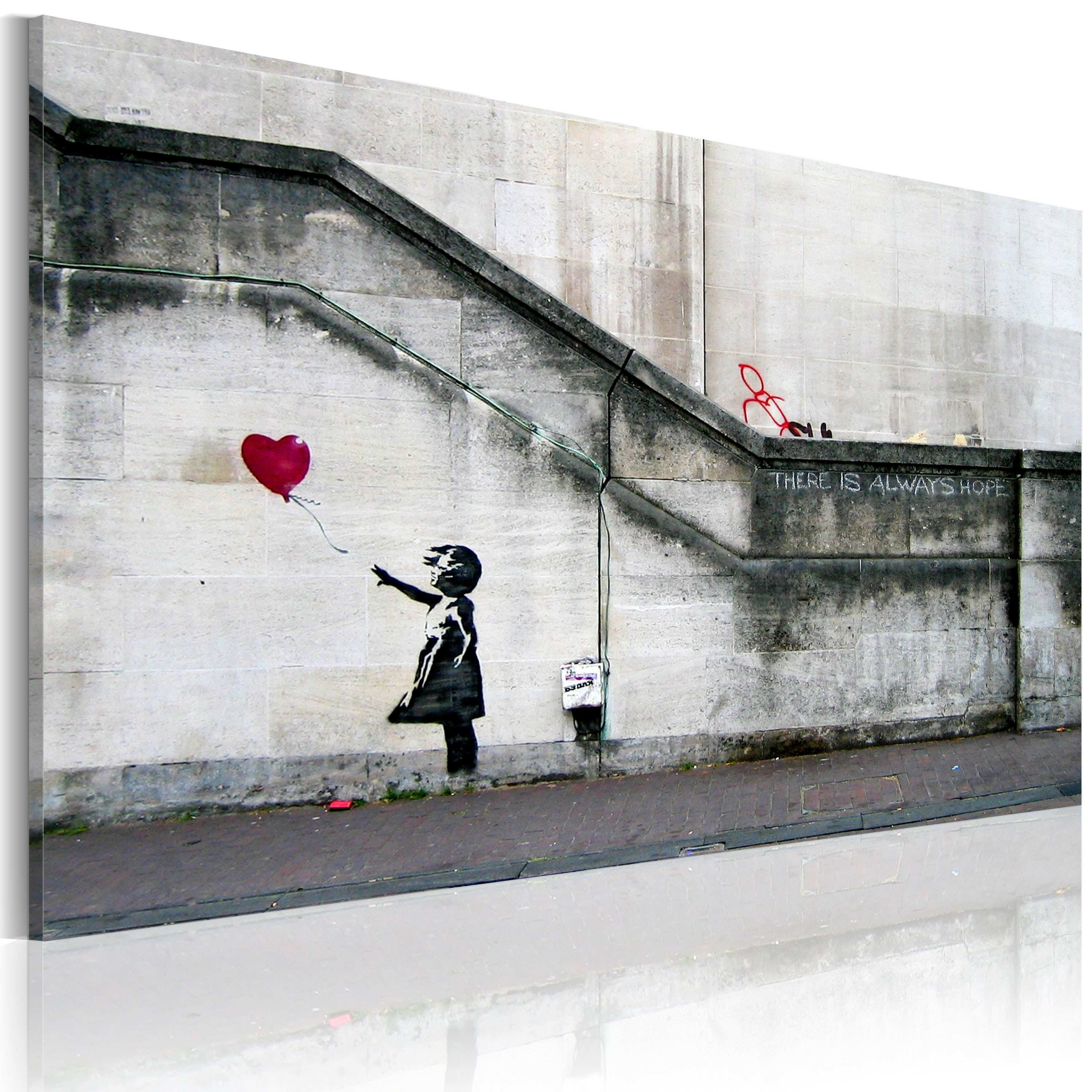 Canvas Wall Art There is always hope Banksy Graffiti Street
