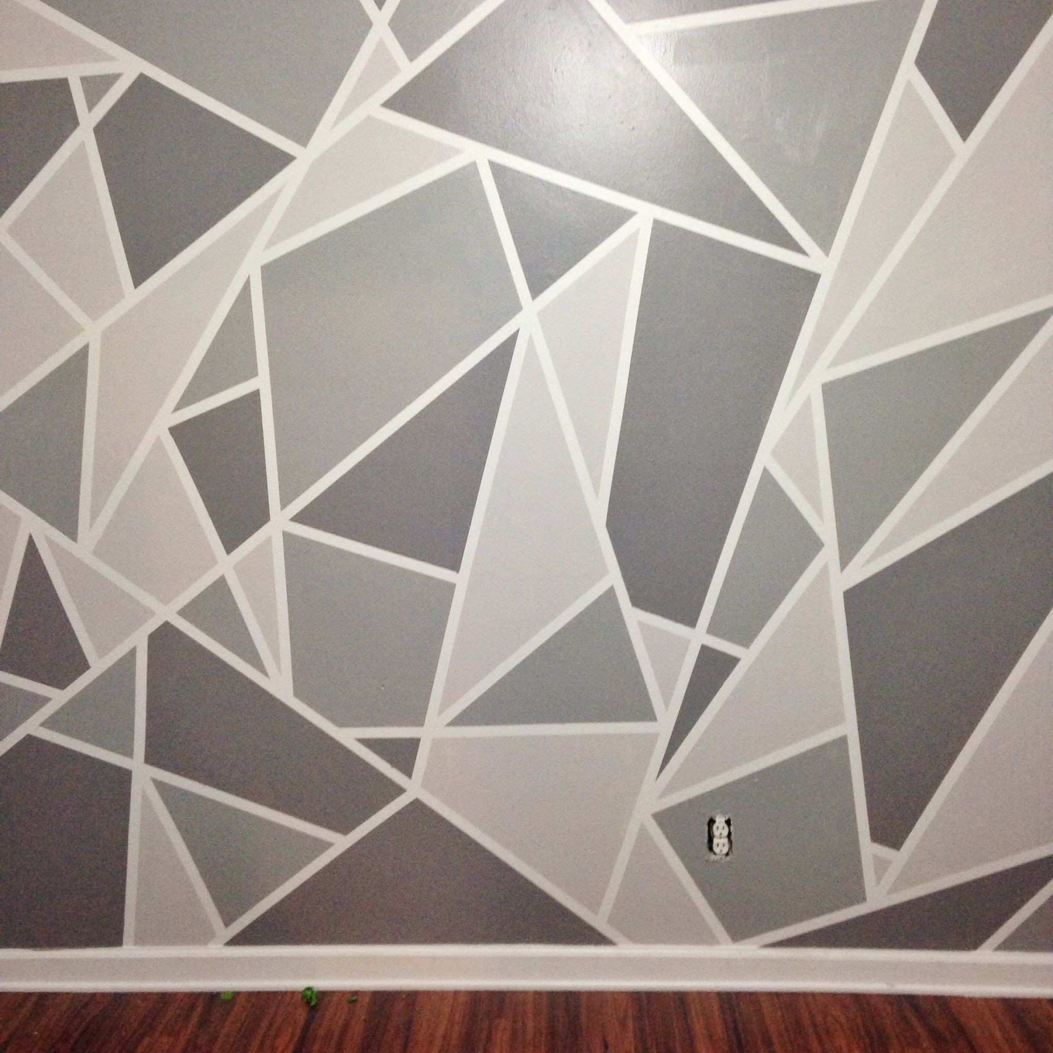 Gray and Yellow Wall Decor Best Of Diy Faux Wallpaper Accent Wall Statement Wall Diy Wallpaper
