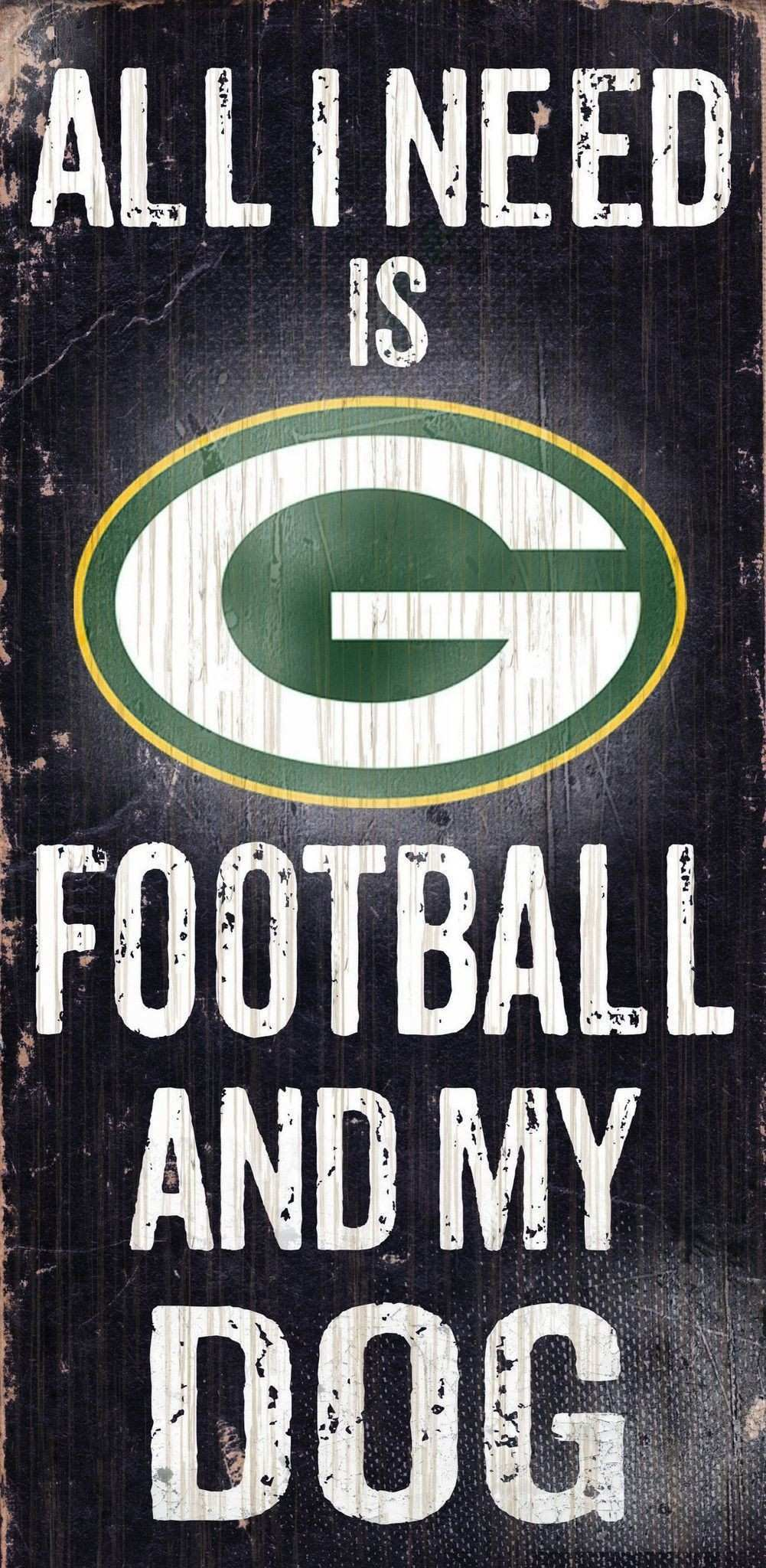 Ficially Licensed Green Bay Football and Dog Sign Scheme Packers