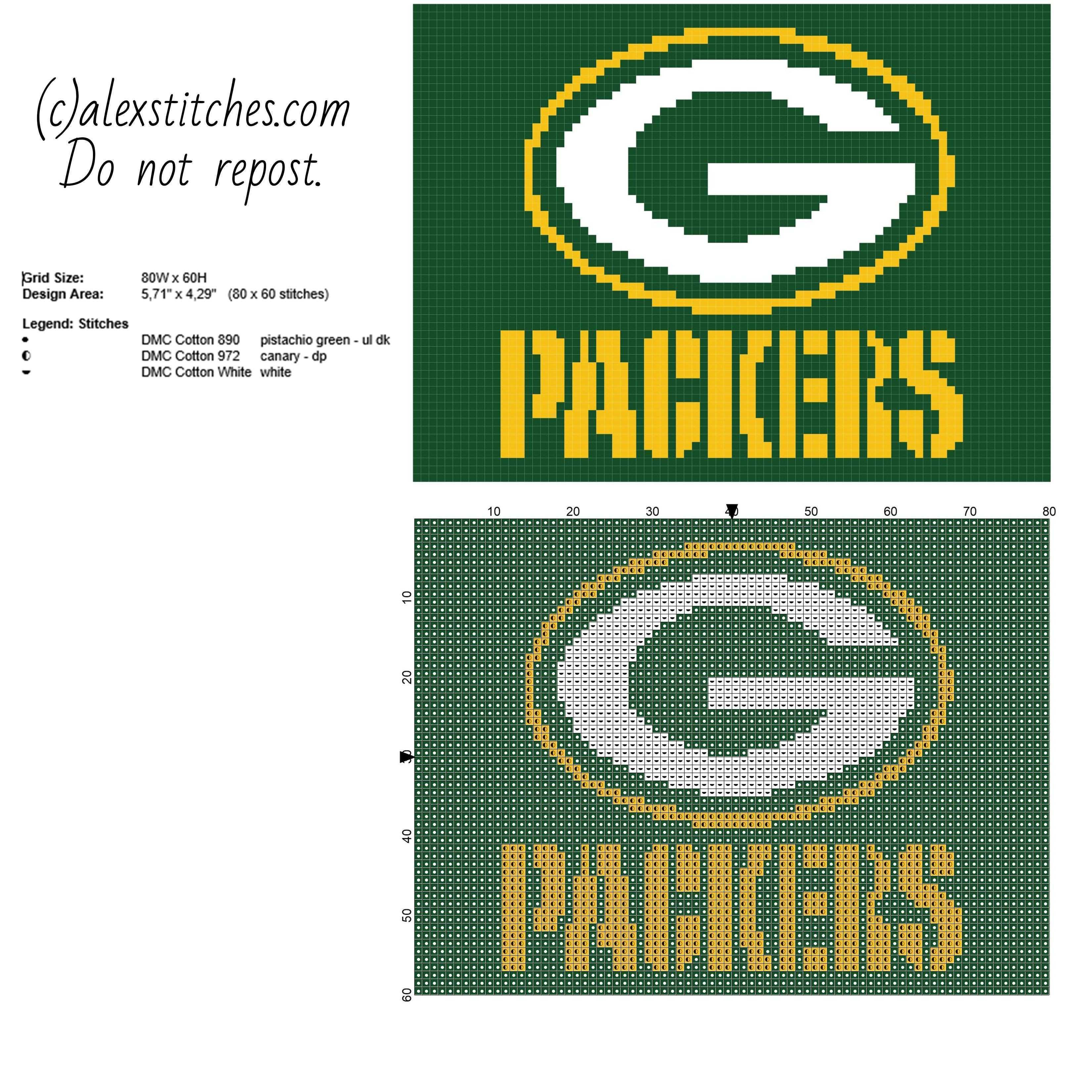 Green Bay Packers National Football League NFL team logo free cross