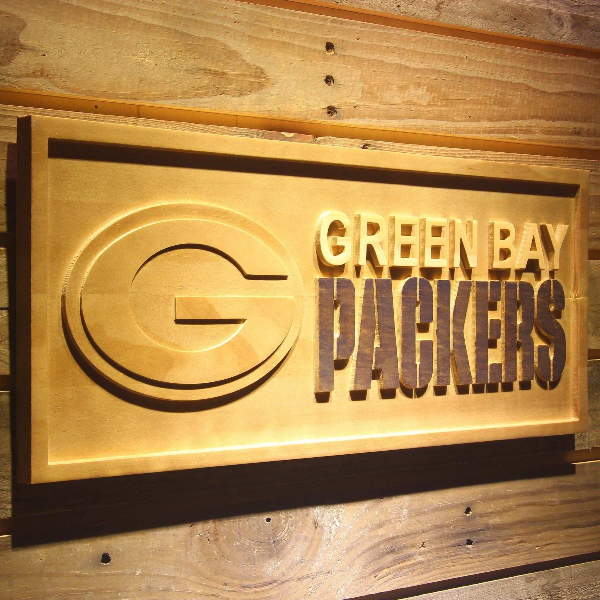 Green Bay Packers 3D Wooden Sign WoodySigns Co