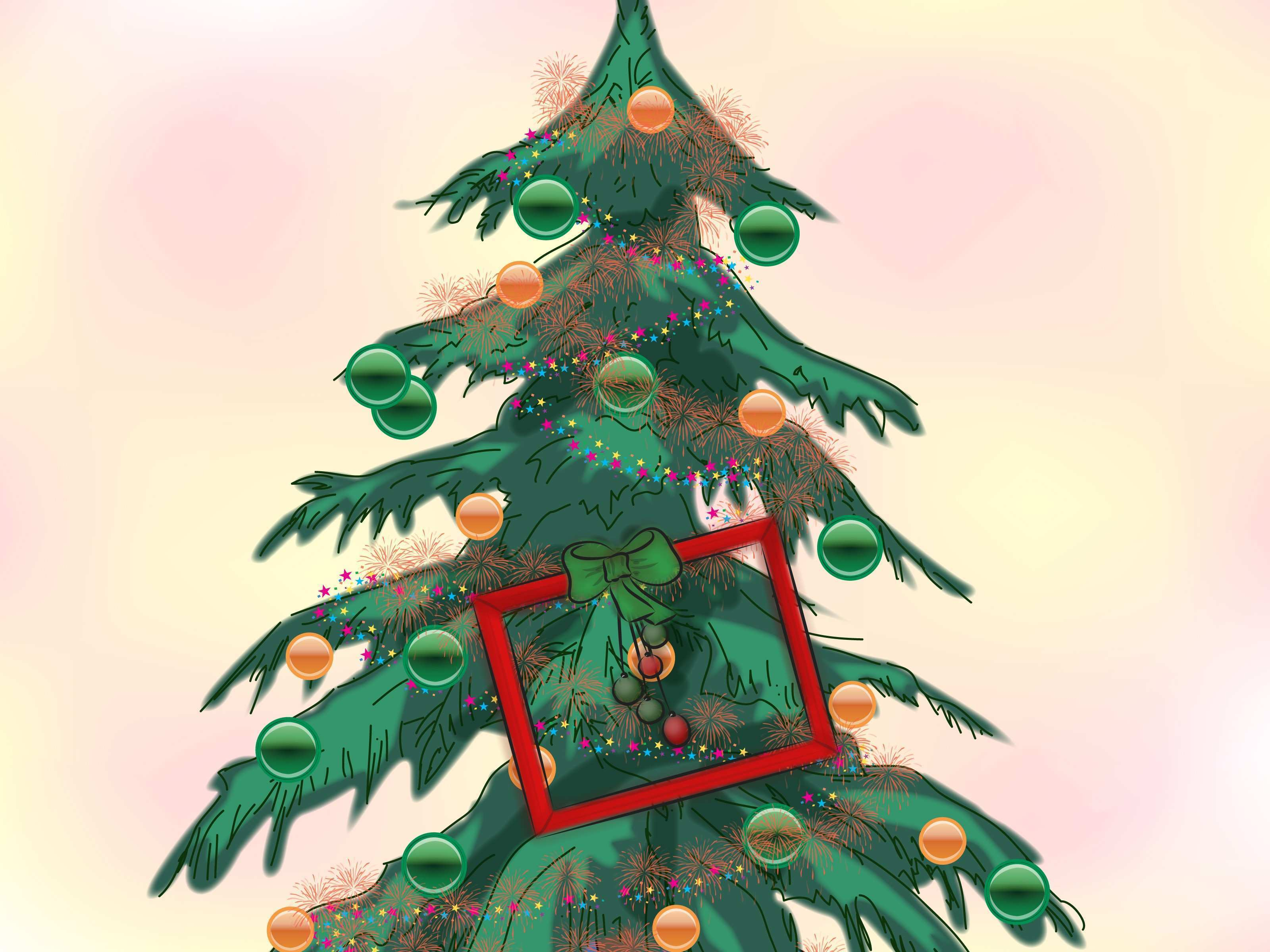 3 Ways to Decorate a Frame for Christmas wikiHow