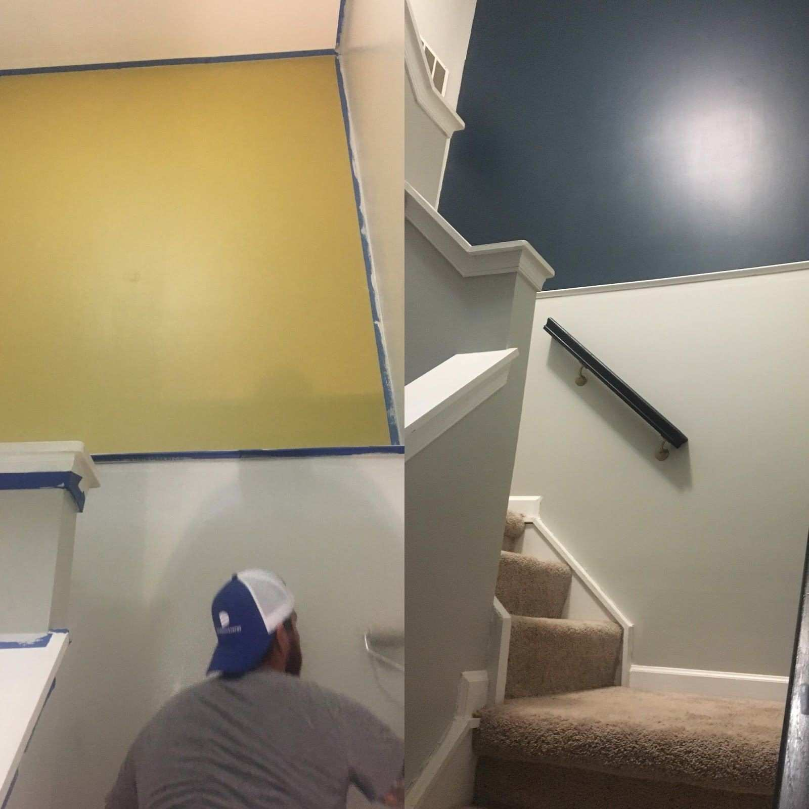 Stairs and Hallway Makeover Home decor Accent wall Sherwin