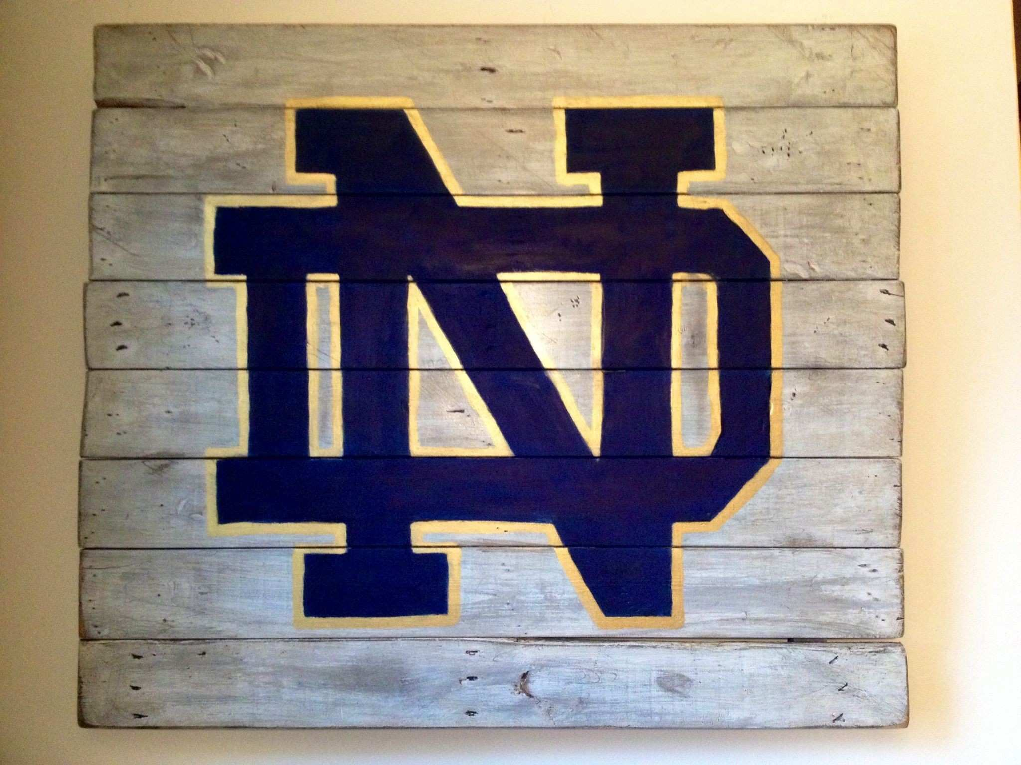 Notre Dame Wall Hanging Hand Painted Reclaimed Wood Inspiration