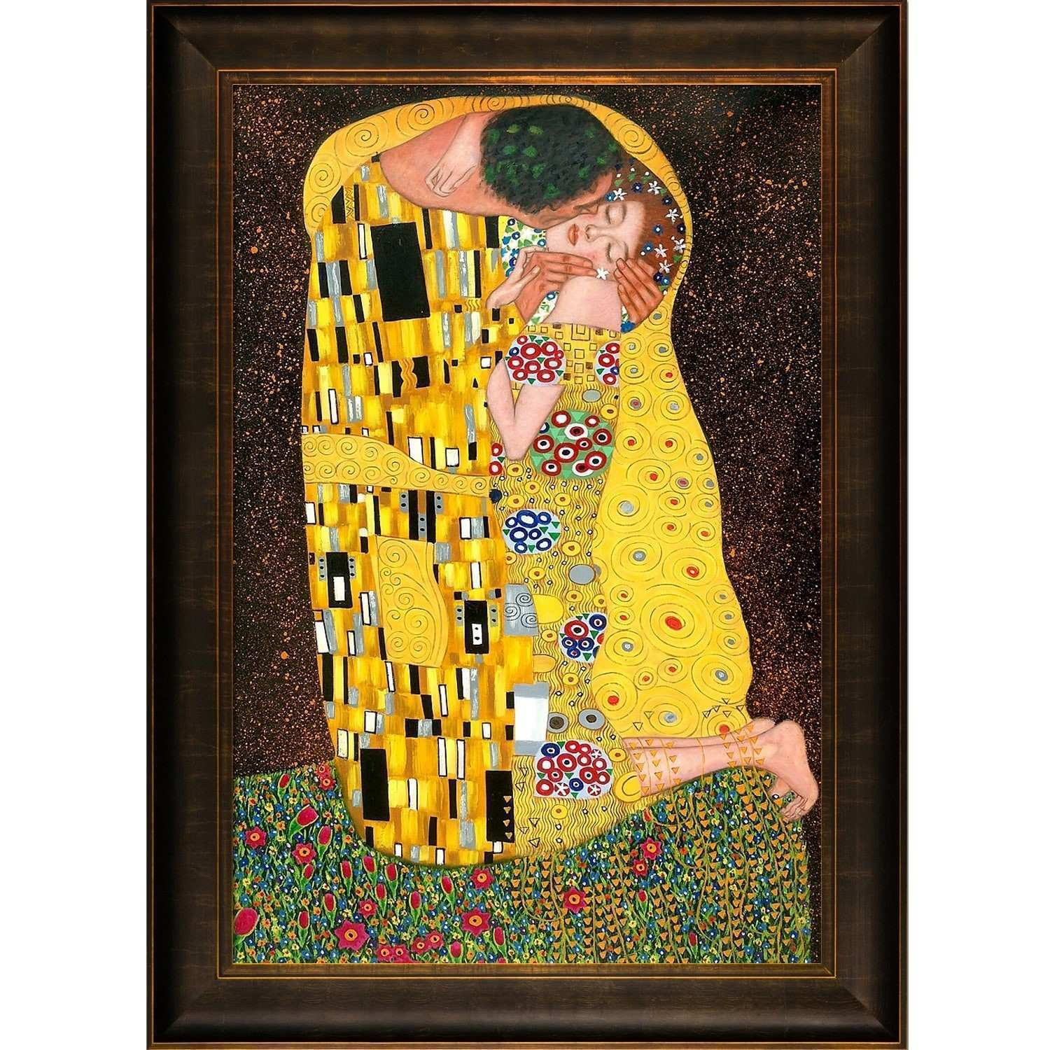 Shop Gustav Klimt The Kiss Hand Painted Framed Canvas Art
