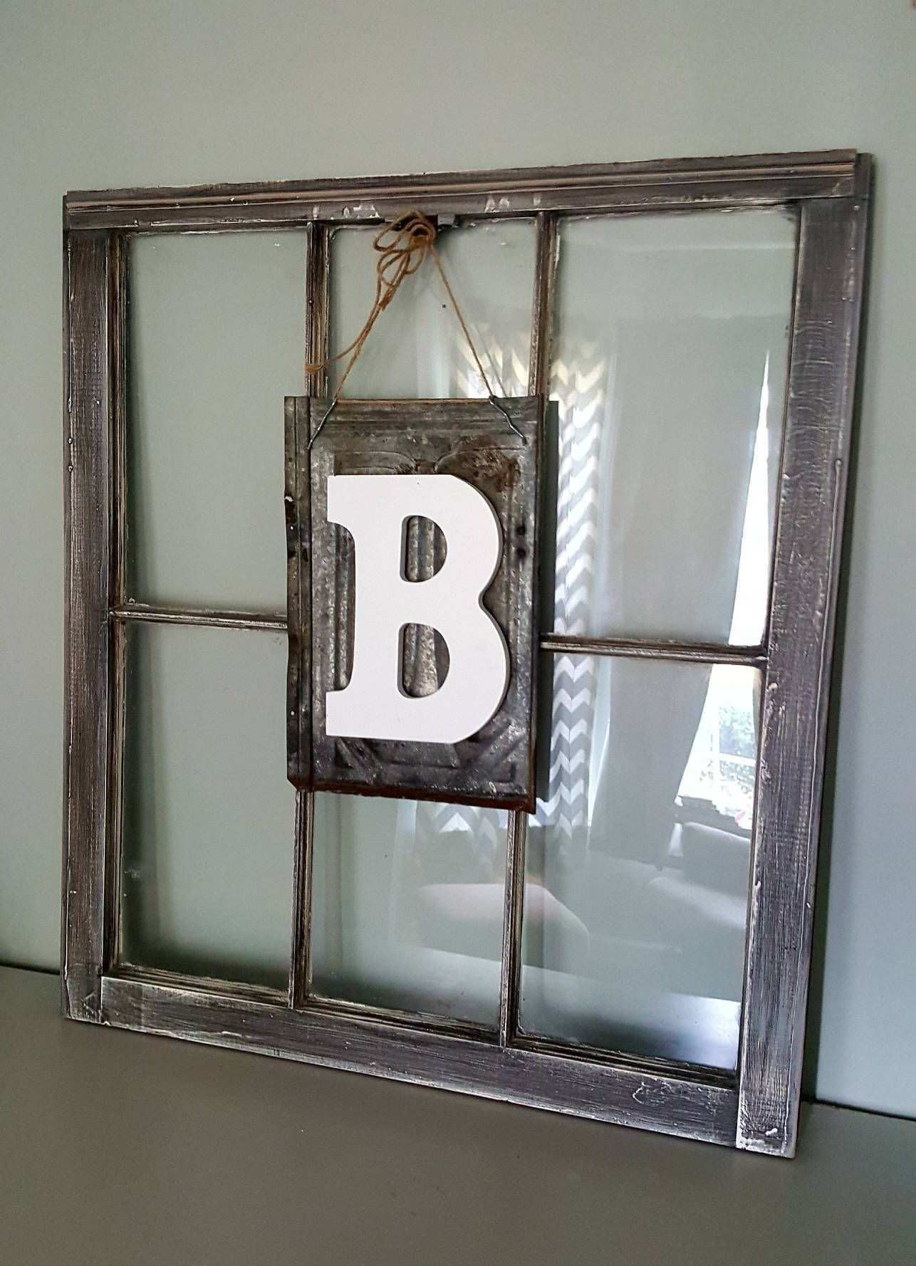 Rustic Letter on Tin Barn Metal Letter Letter wall display