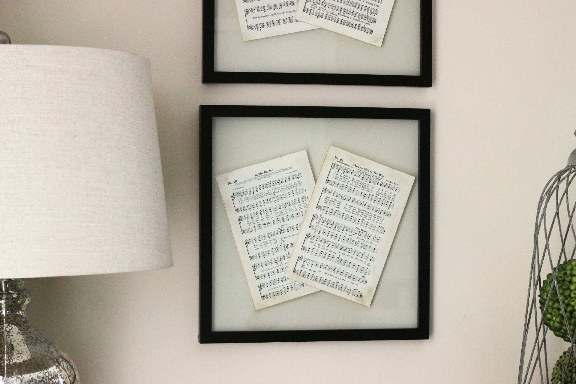 DIY Wall Decor Pressed Glass Frame