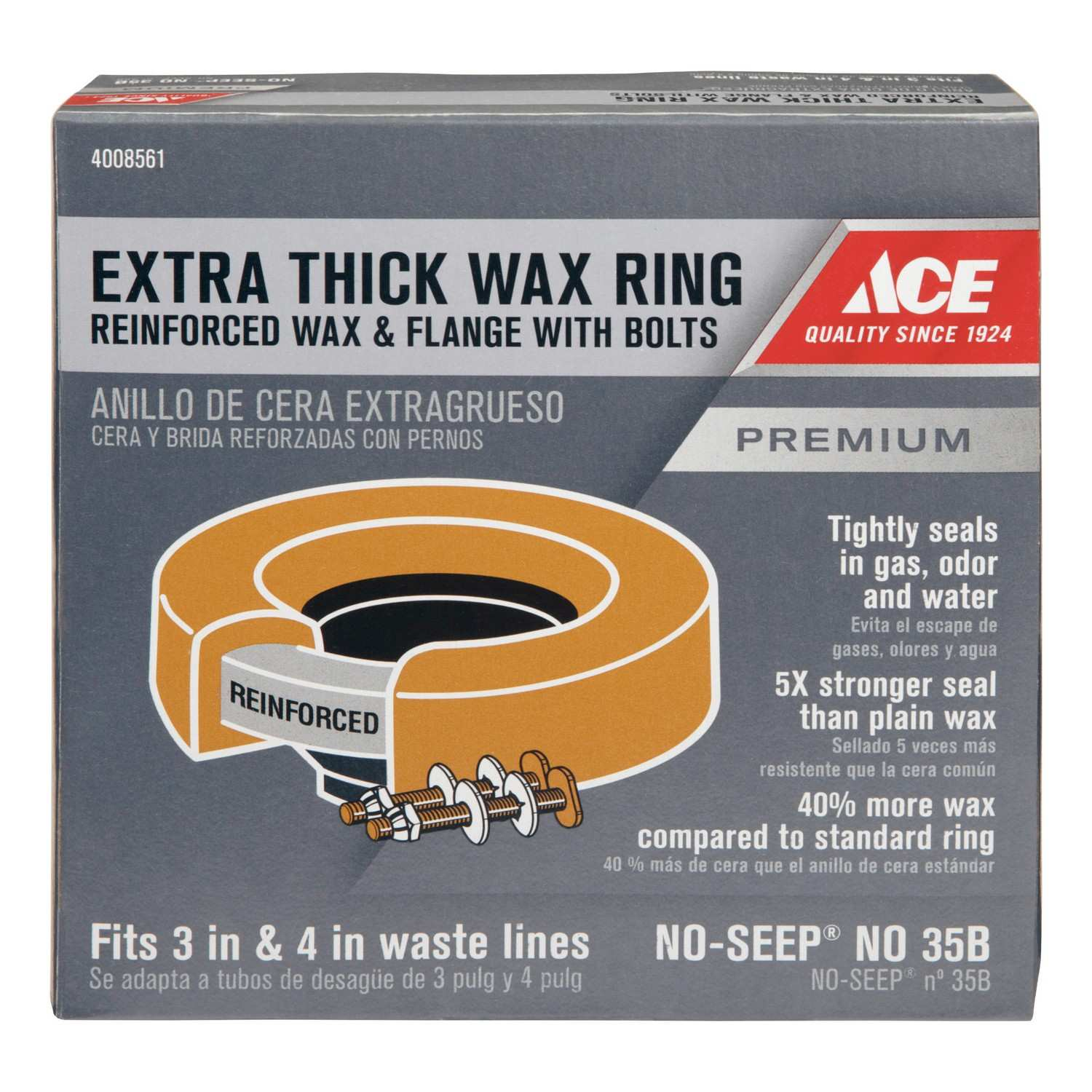 Ace Toilet Bowl Gasket With Flange 3 ID 4 OD Ace Hardware