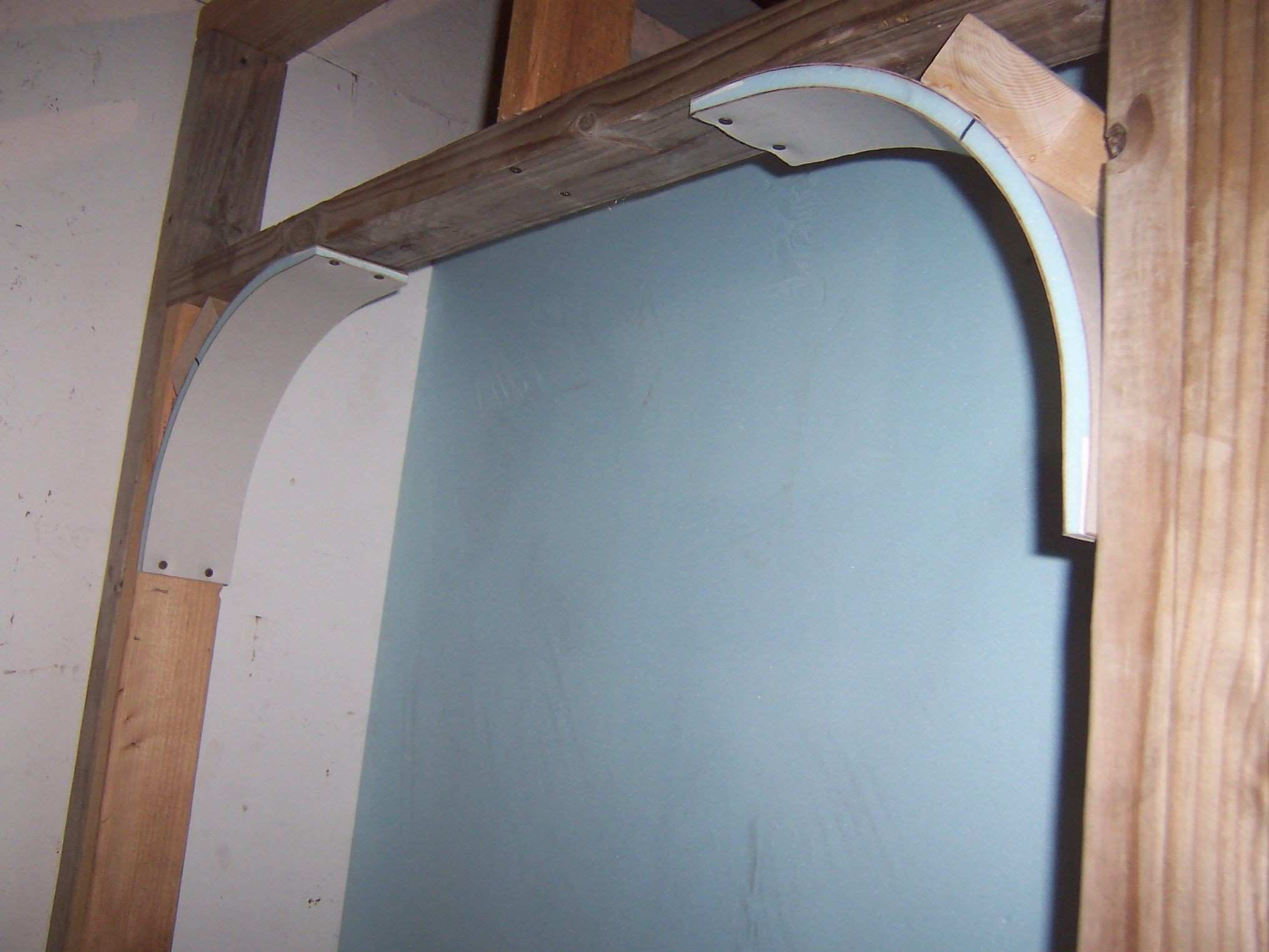 Pre made drywall arches Simplest possible way to create arches No