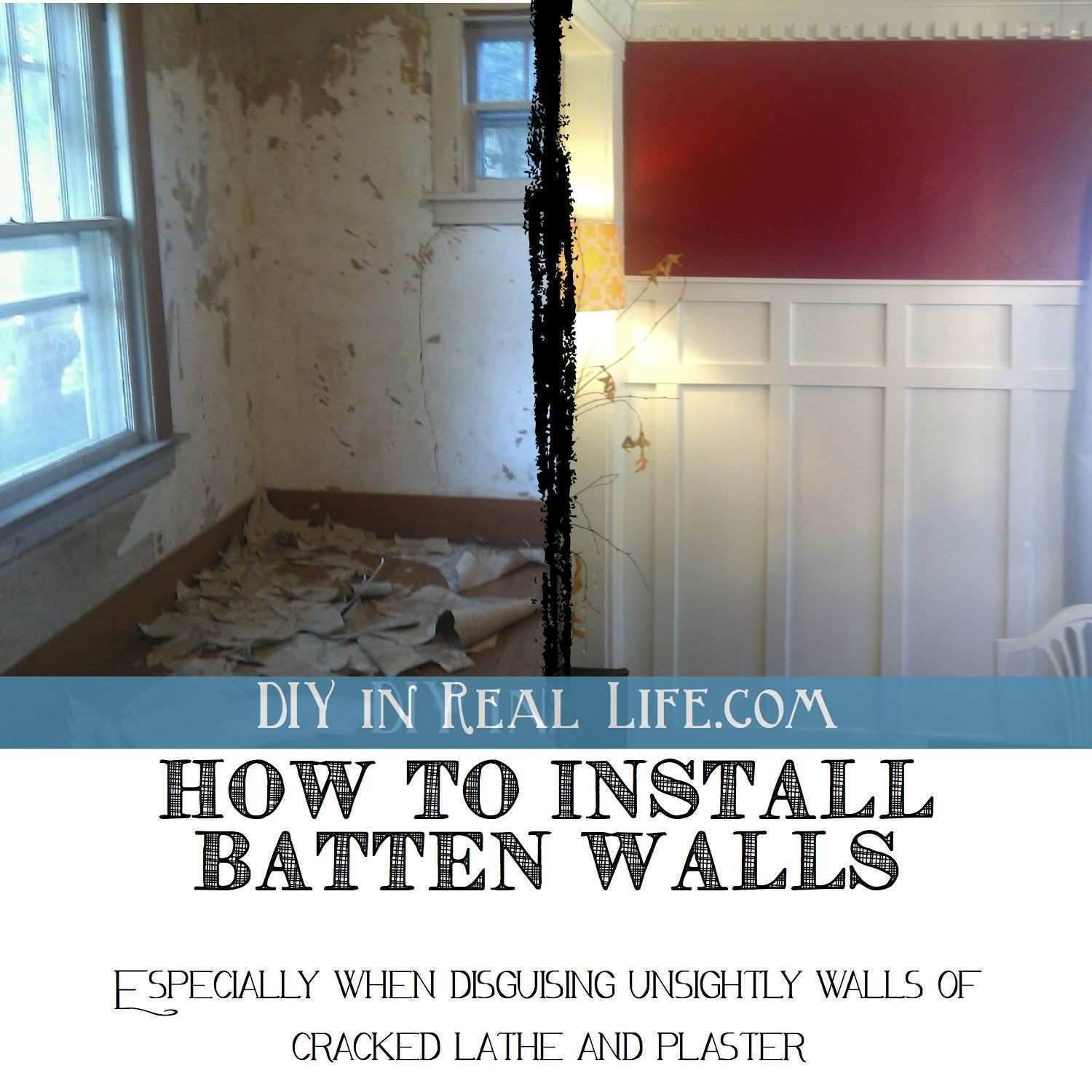 How DIY batten walls saved our lathe & plaster dining room