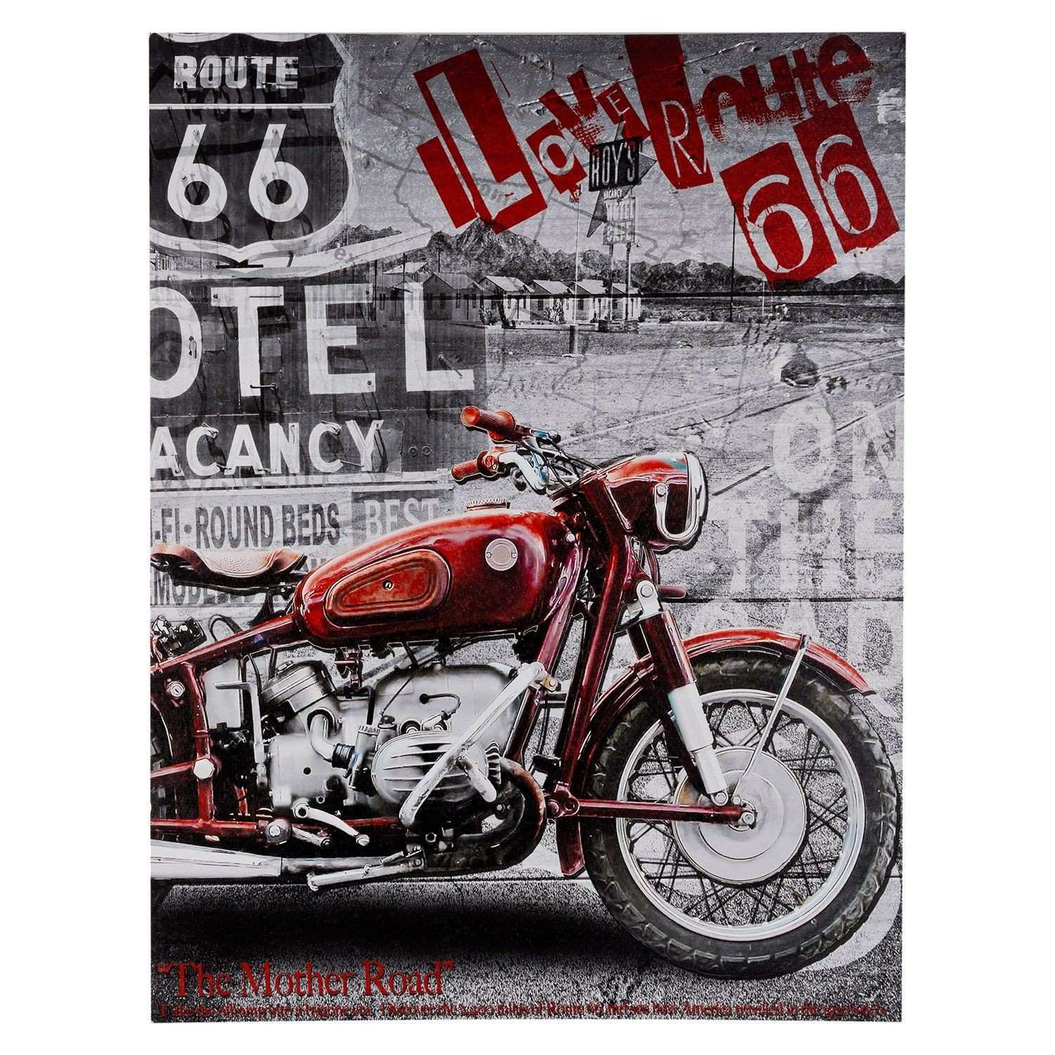 Buy Route 66 Motorcycle Canvas Gallery Wall Art The Range