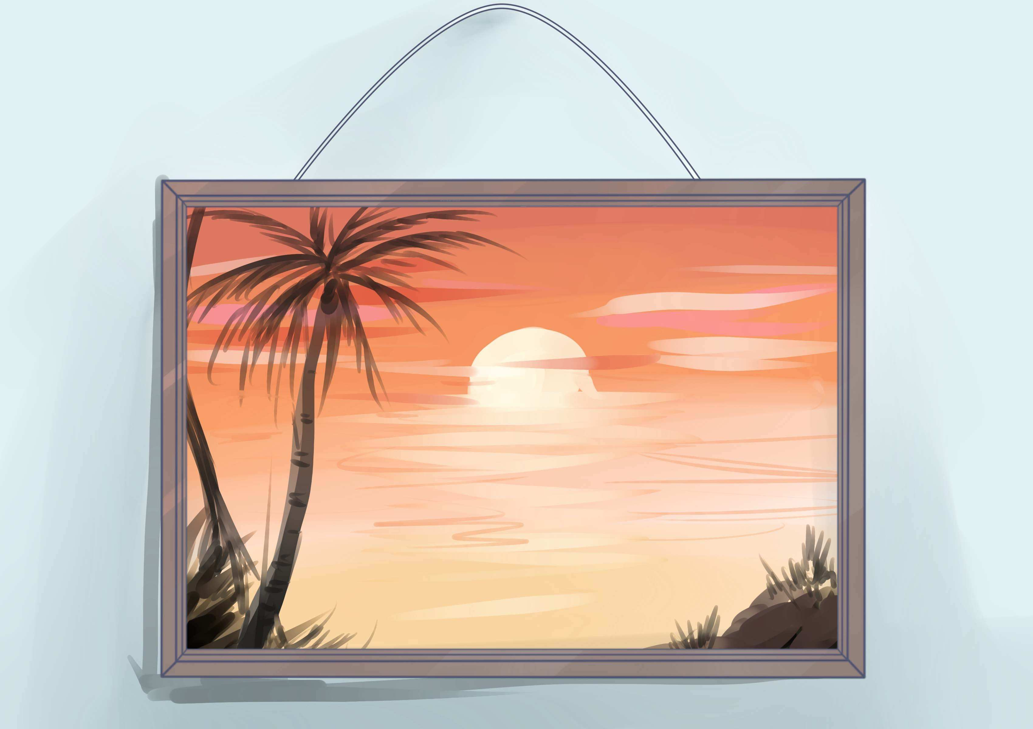 How to Frame an Oil Painting with wikiHow