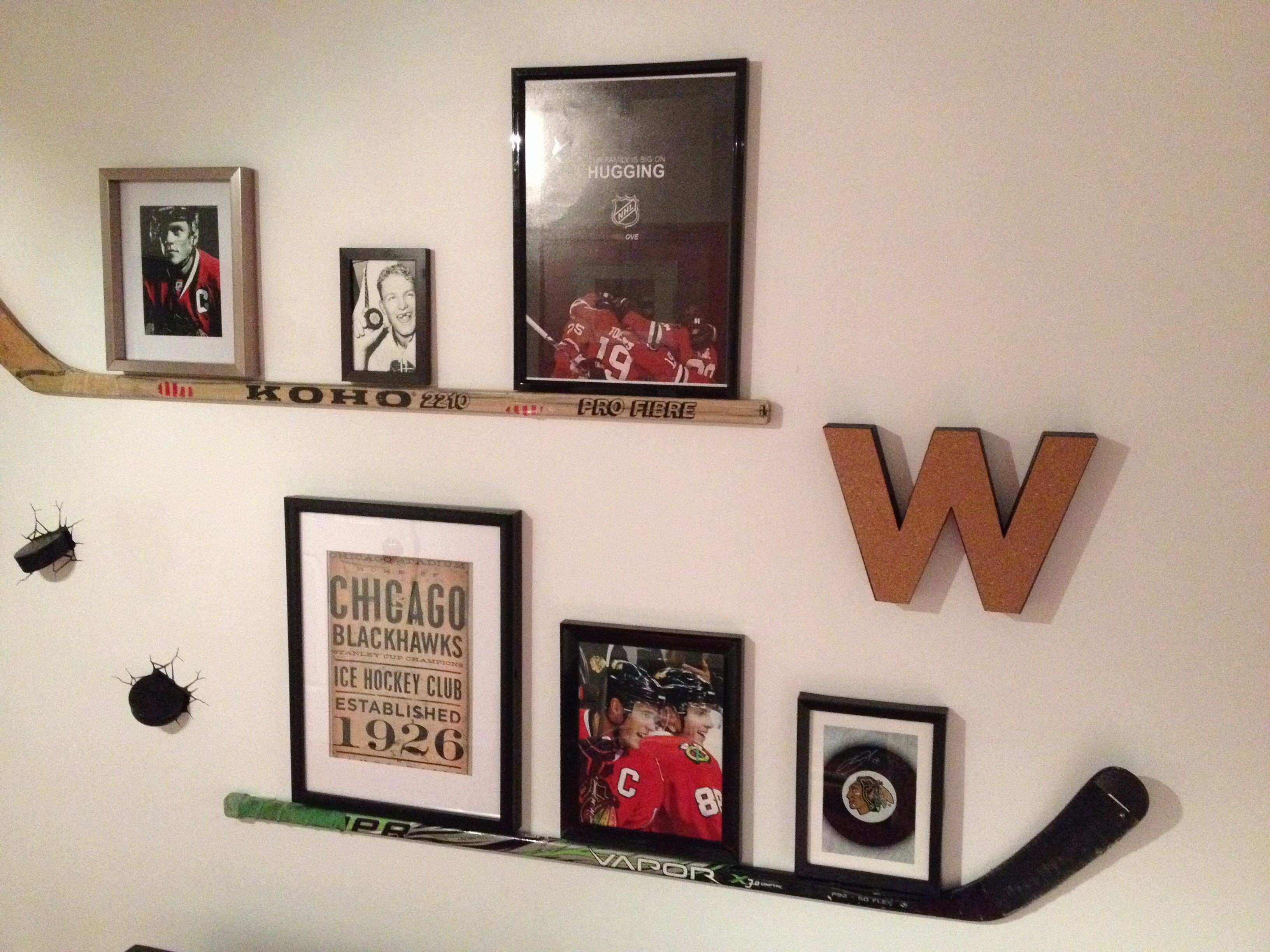 What Happened To the wild collection with hockey stick shelf
