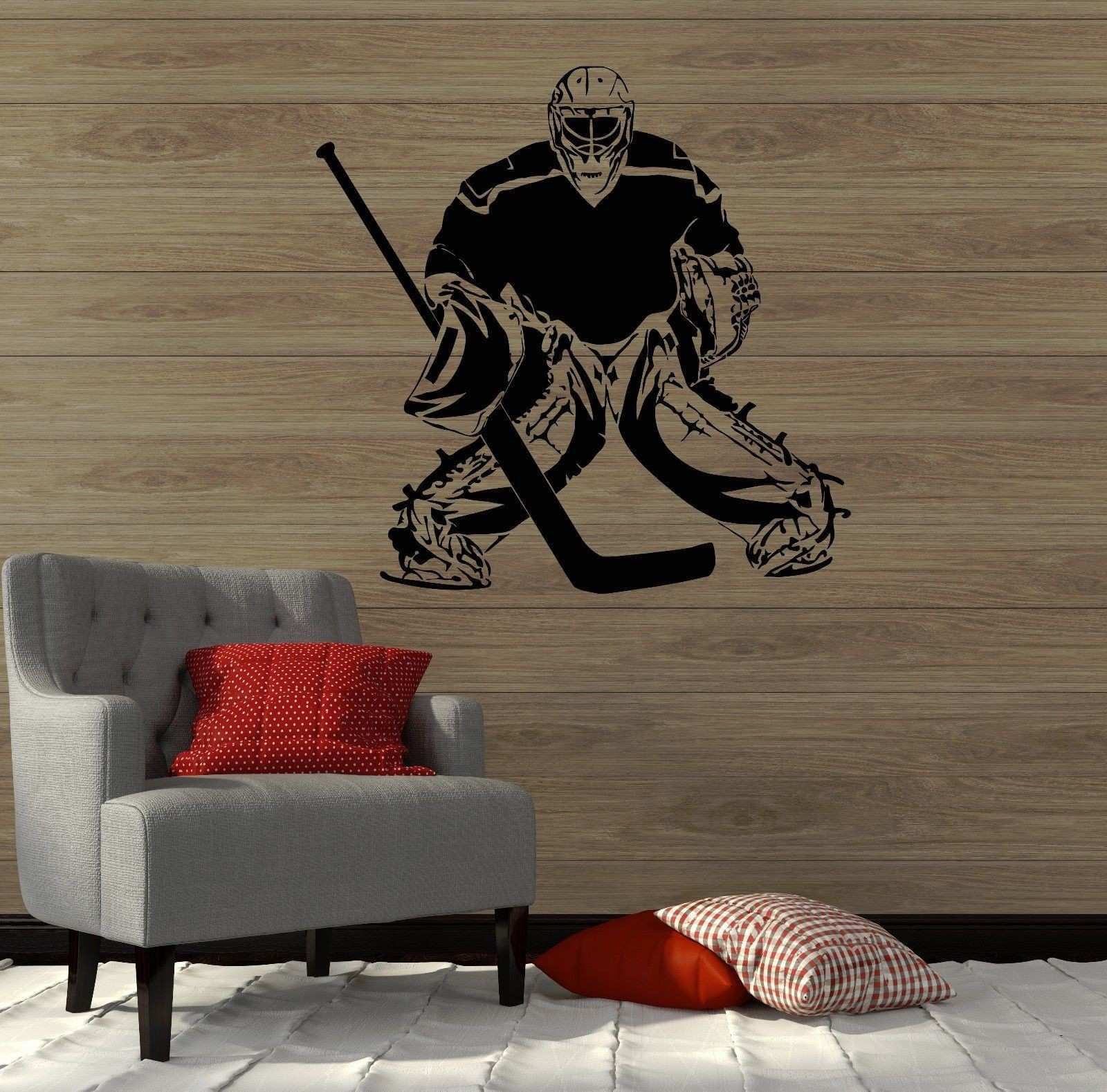 Home Decor Ice Hockey Girls Decal Wall Art Mural Bedroom Sport Game