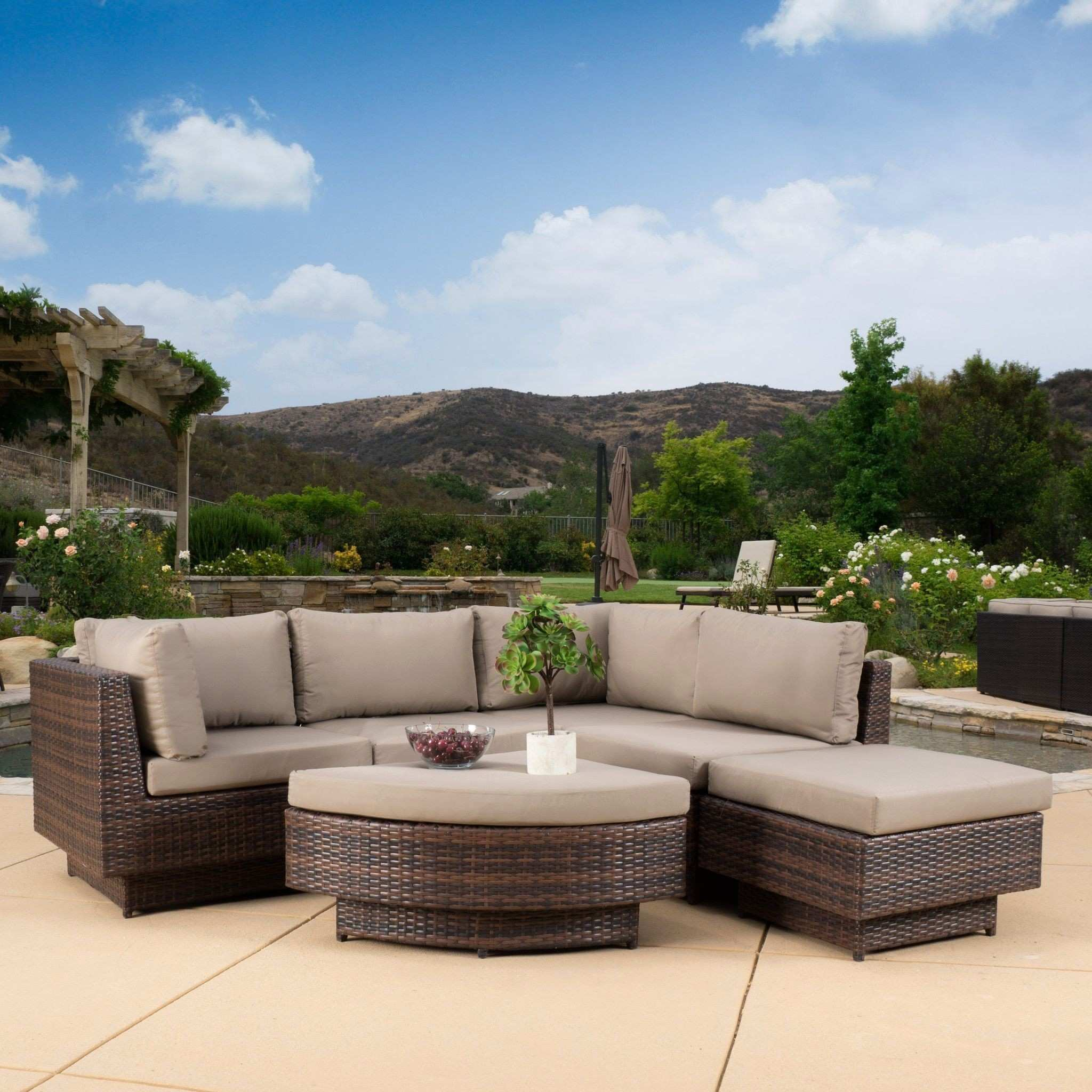 Outdoor Side Table Ideas Home Decor Delightful Patio Sectional