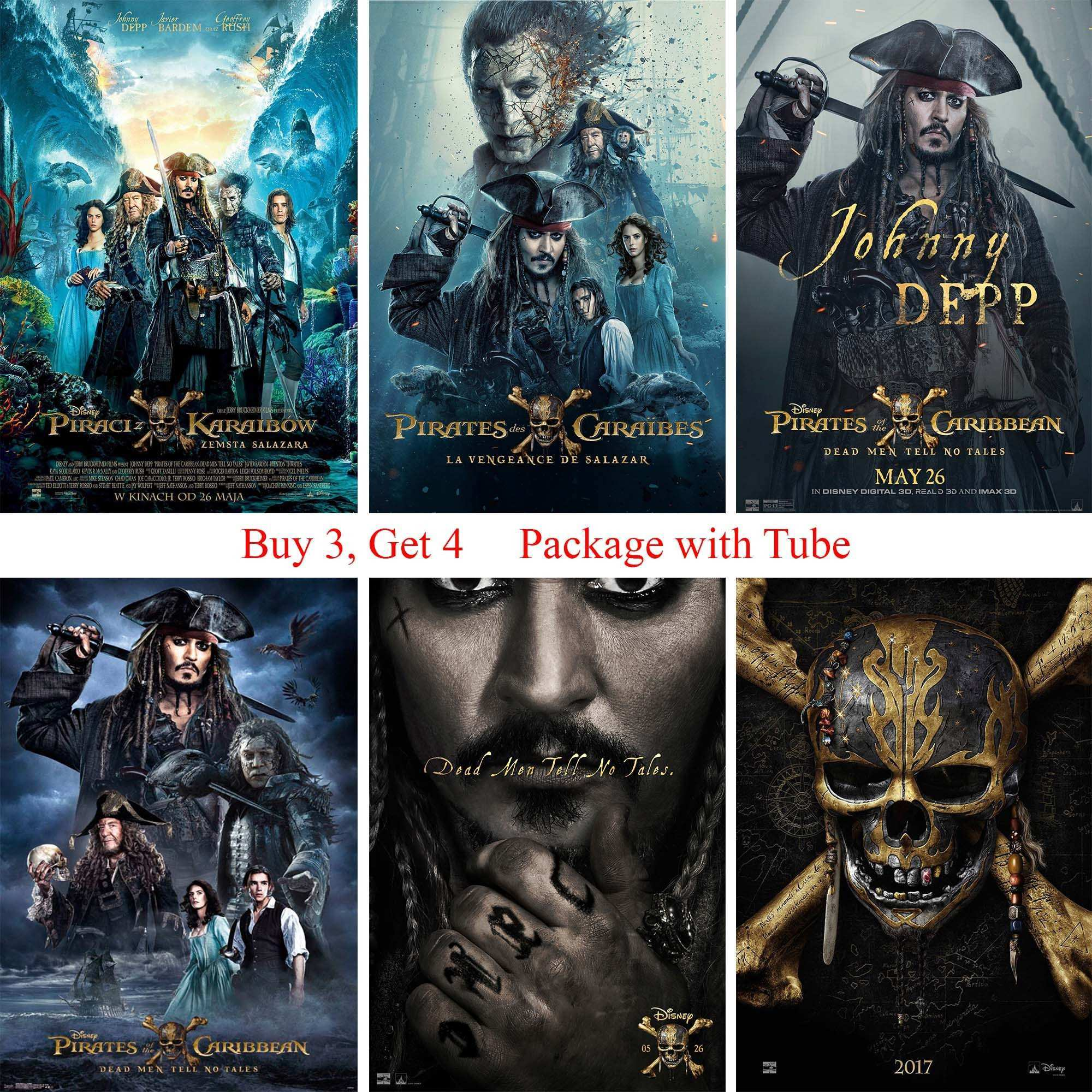 Pirates of the Caribbean Posters White Coated Paper Prints Wall