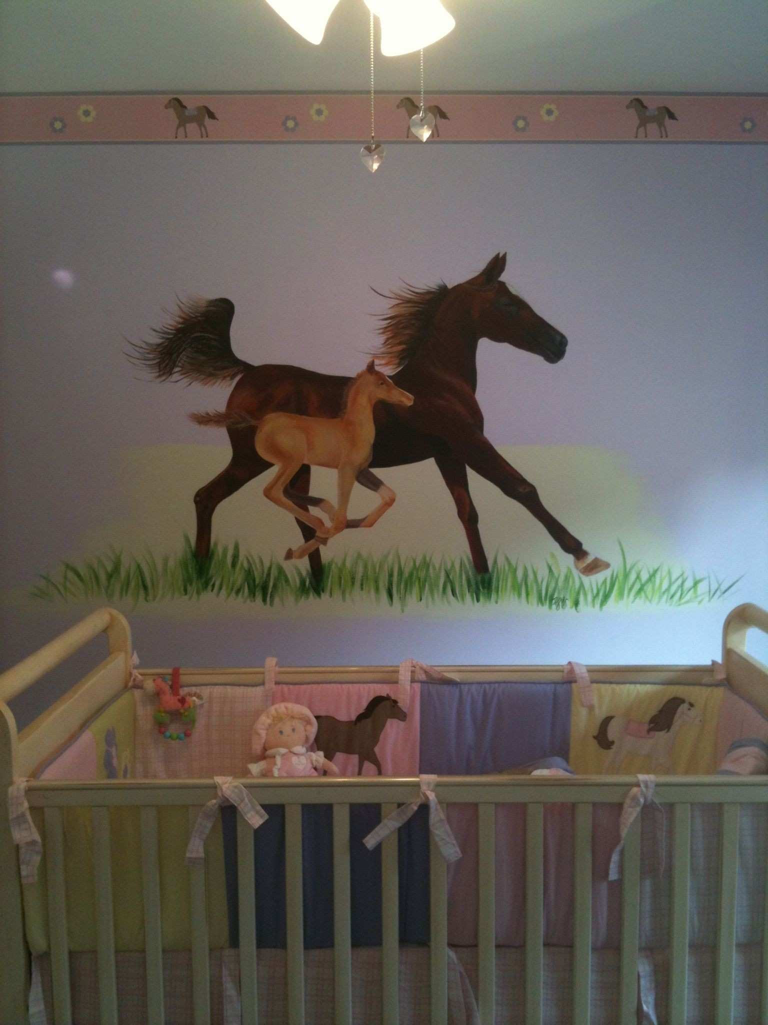 Horse mural in Baby s room e of my most fun projects to date