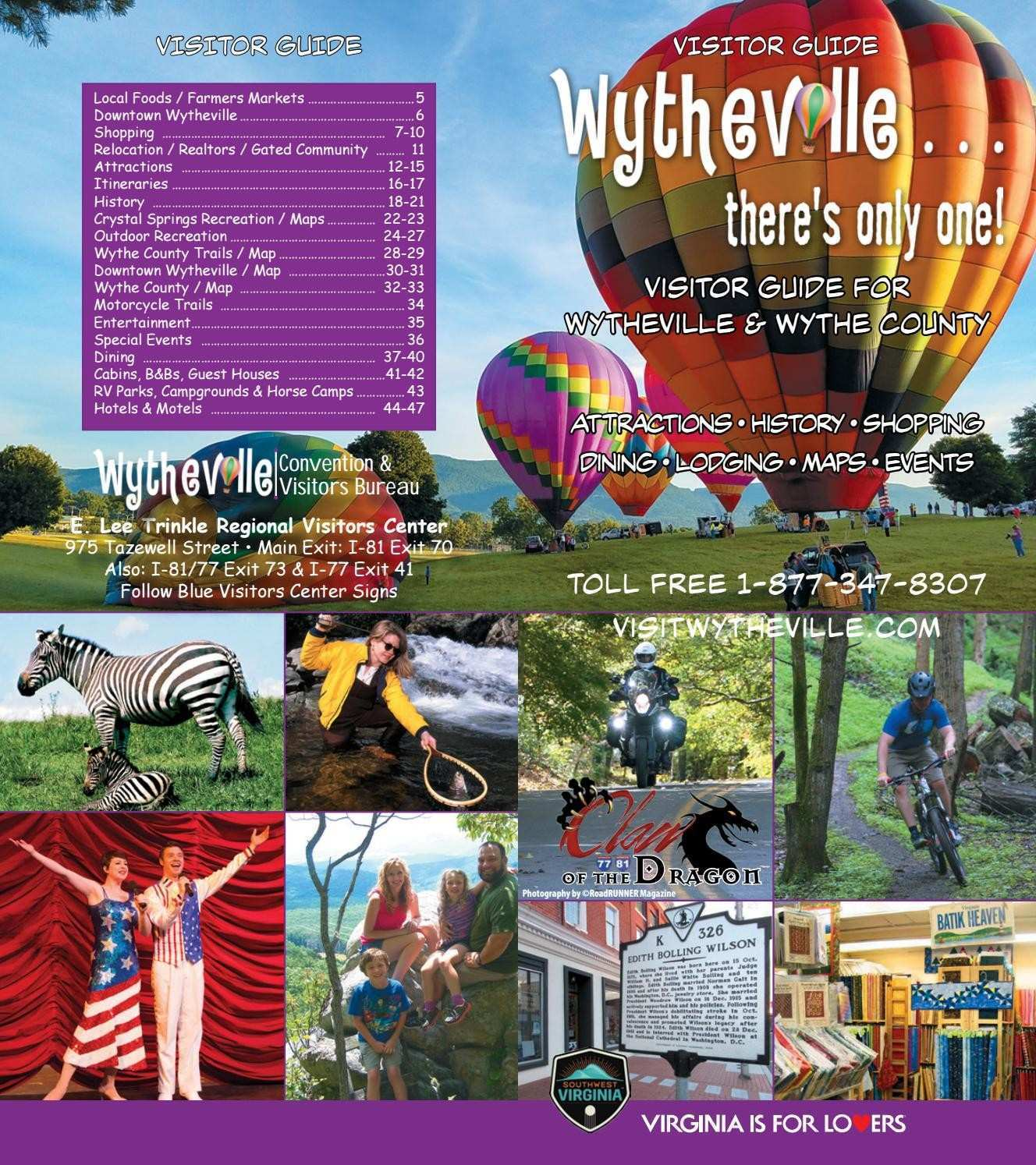 Wytheville Visitor Guide 2017 by Stallard Studios Publishing issuu