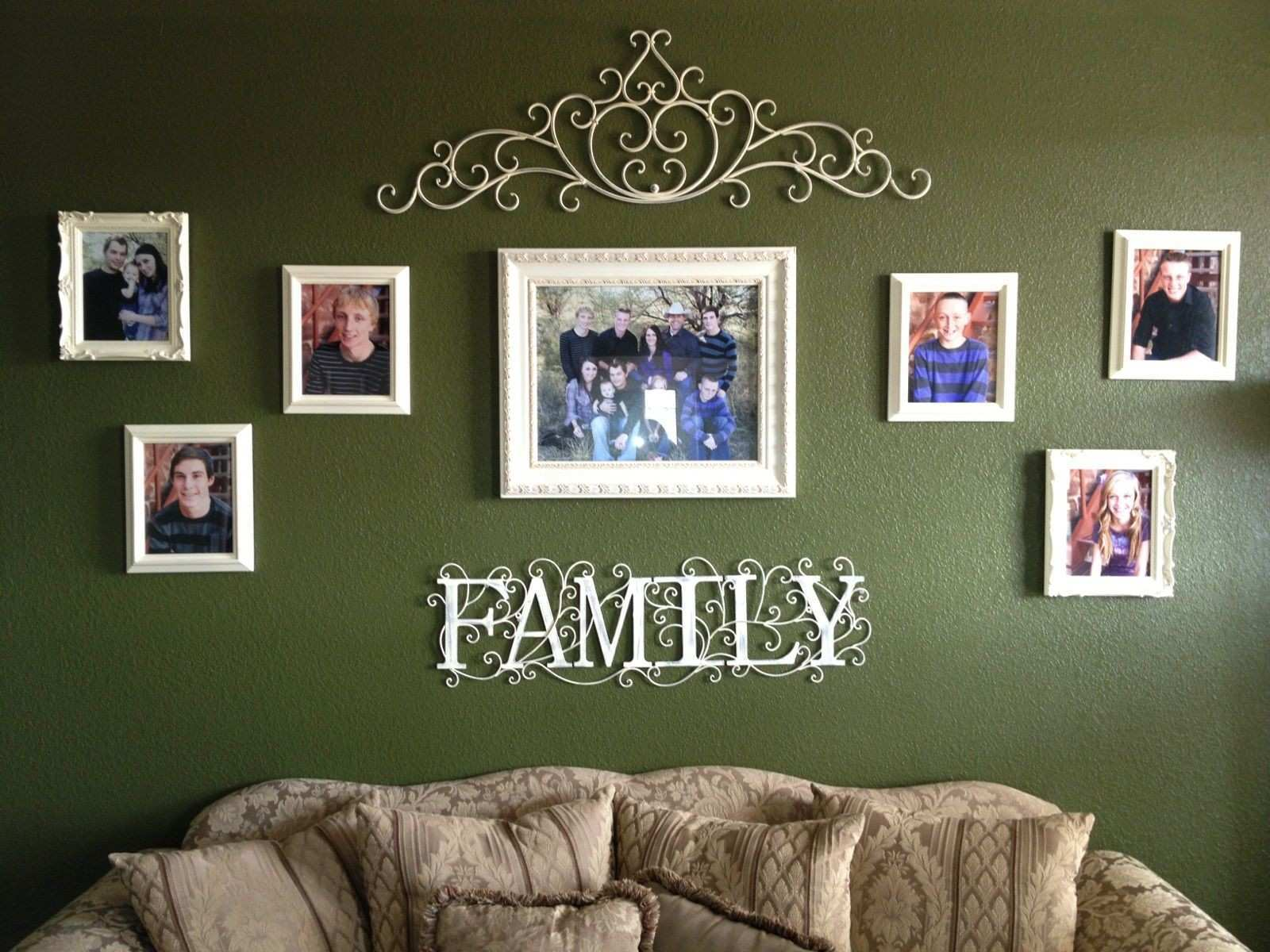 Family Picture Wall Home Pinterest