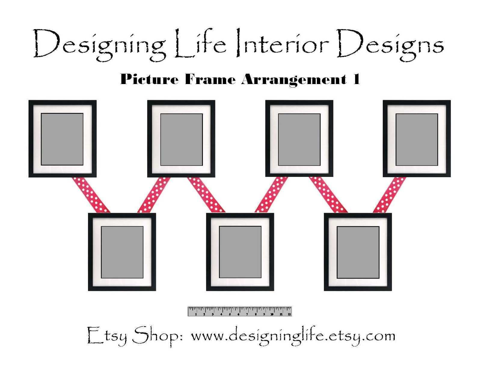 Designing Life How to Arrange Picture Displays on a Wall Six