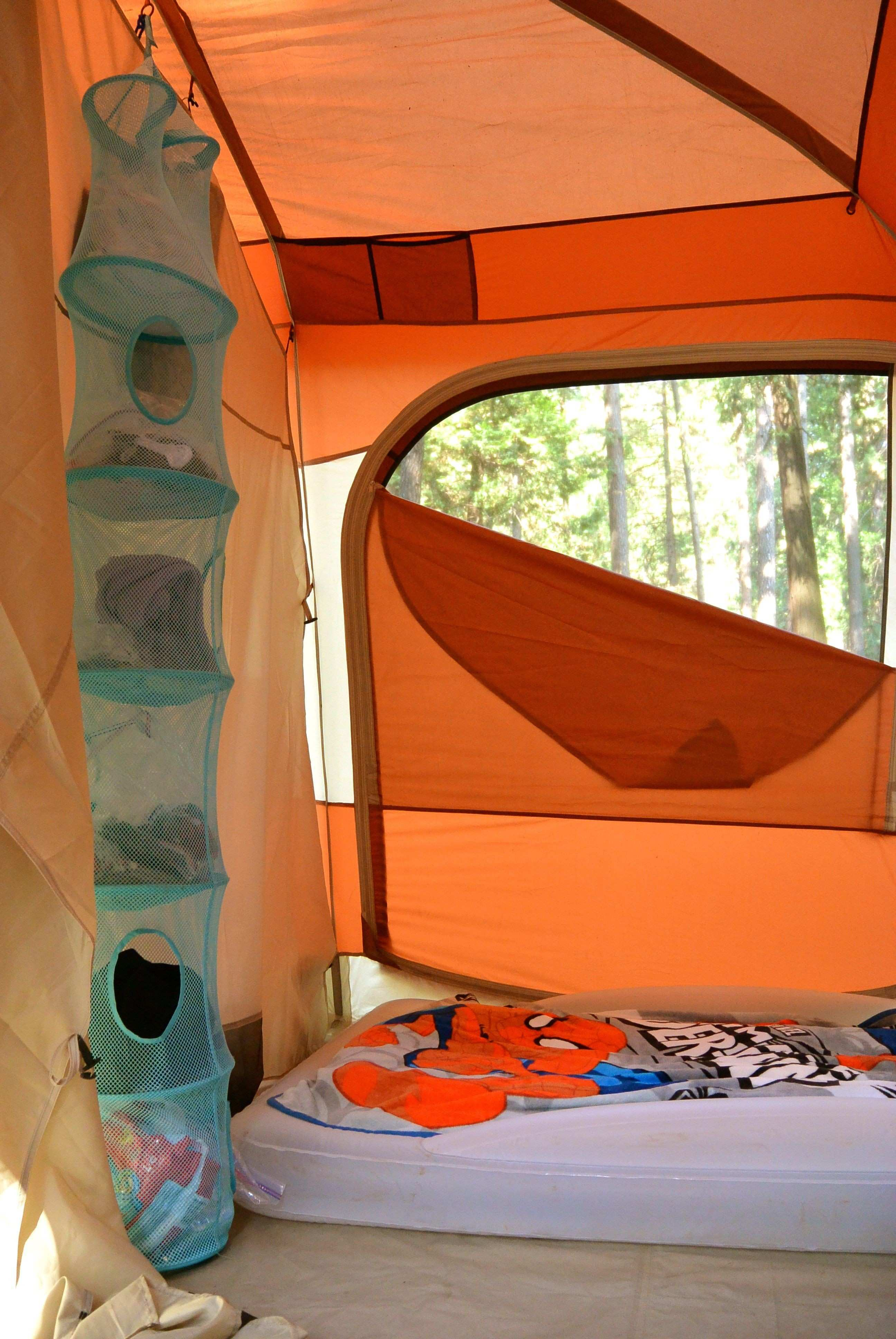 Hanging Storage For Clothing & Other Stuff Camping Hacks