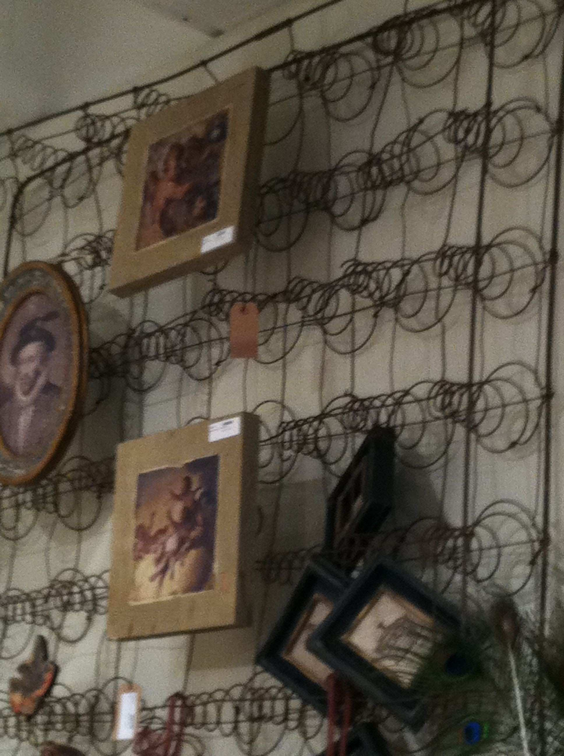 box springs as wall hanging House stuff I LOVE Pinterest