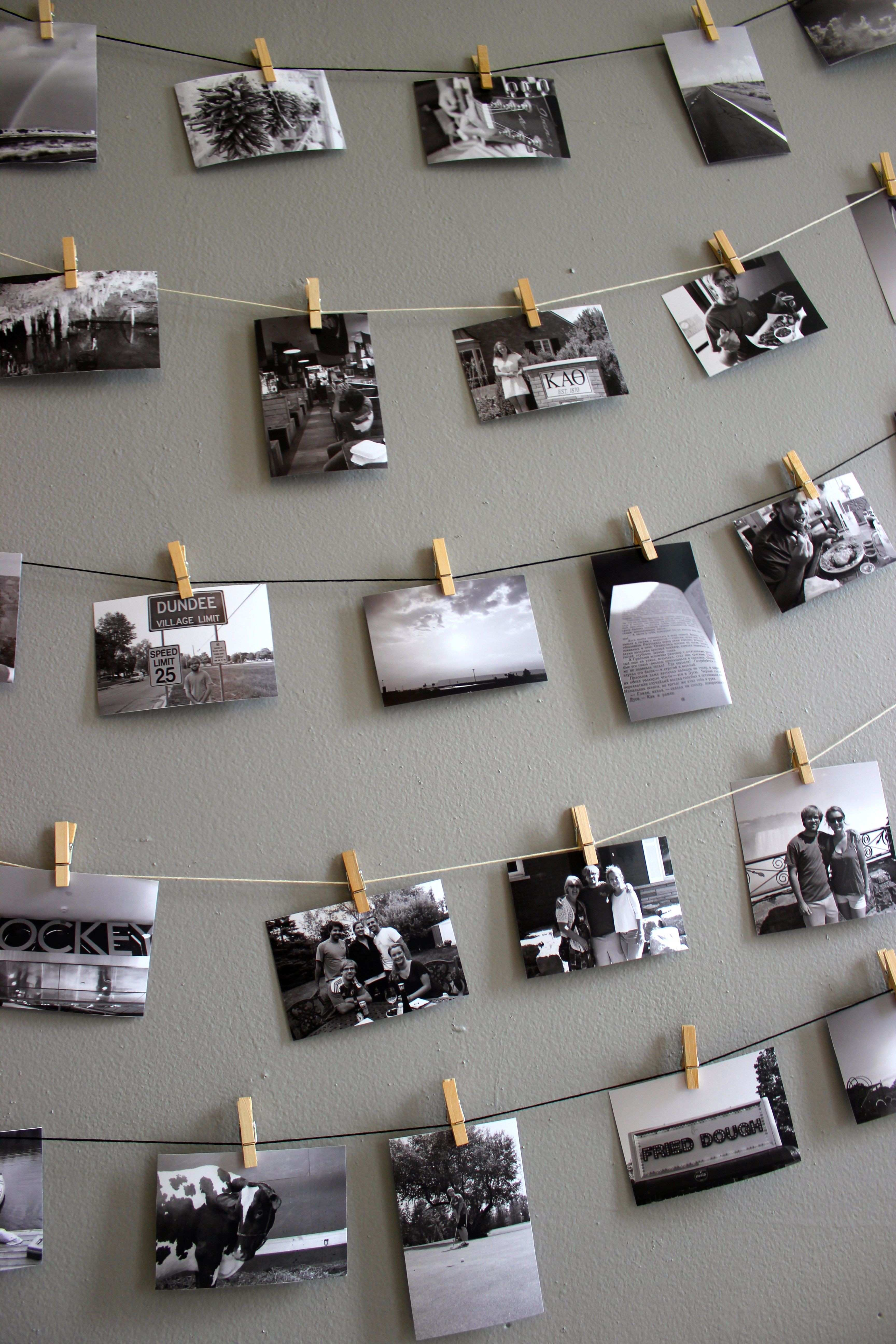 DIY Mini Clothespin Picture Display Pinterest