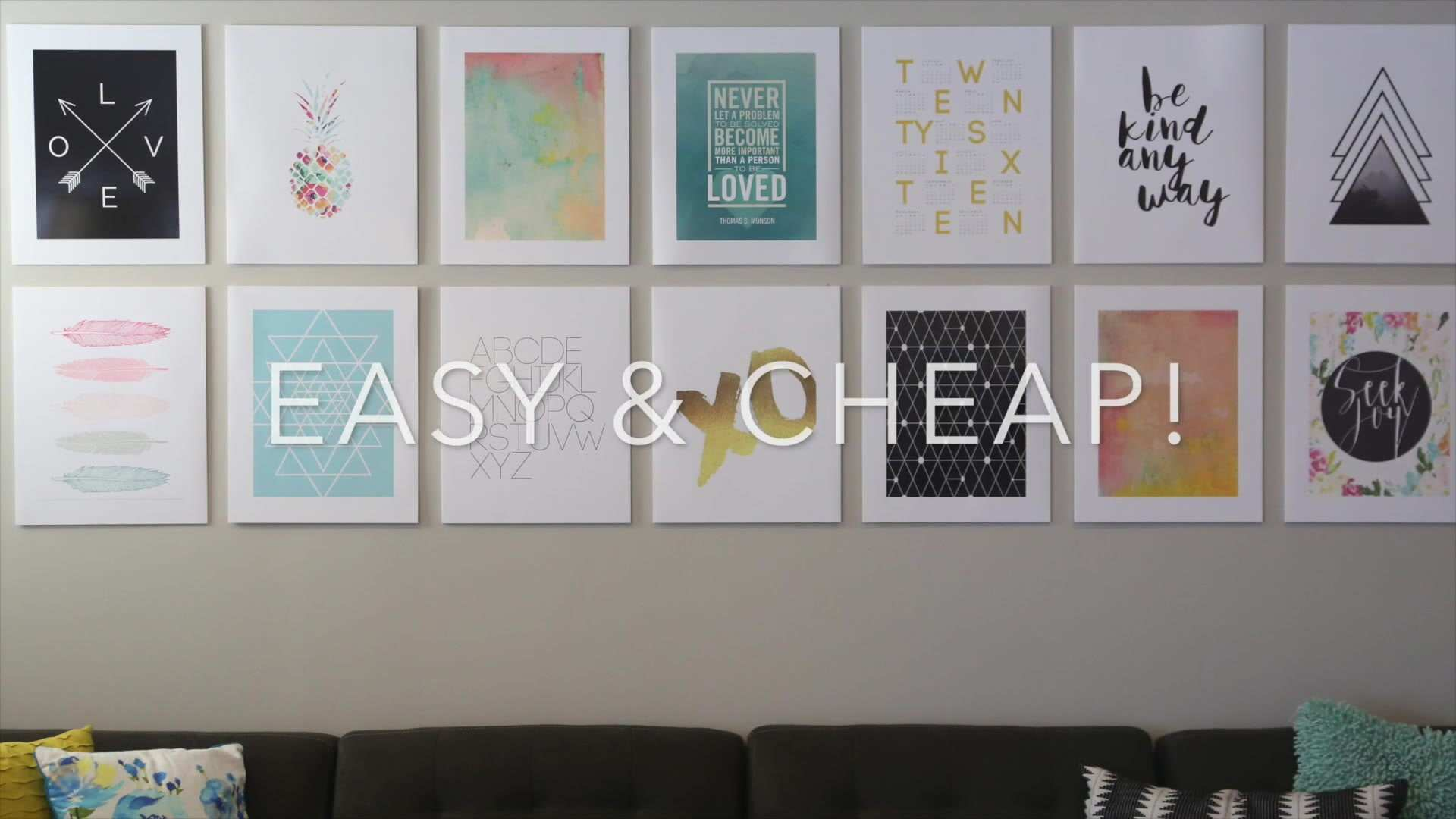 DIY photo mounting for a cheap easy gallery wall It s Always Autumn