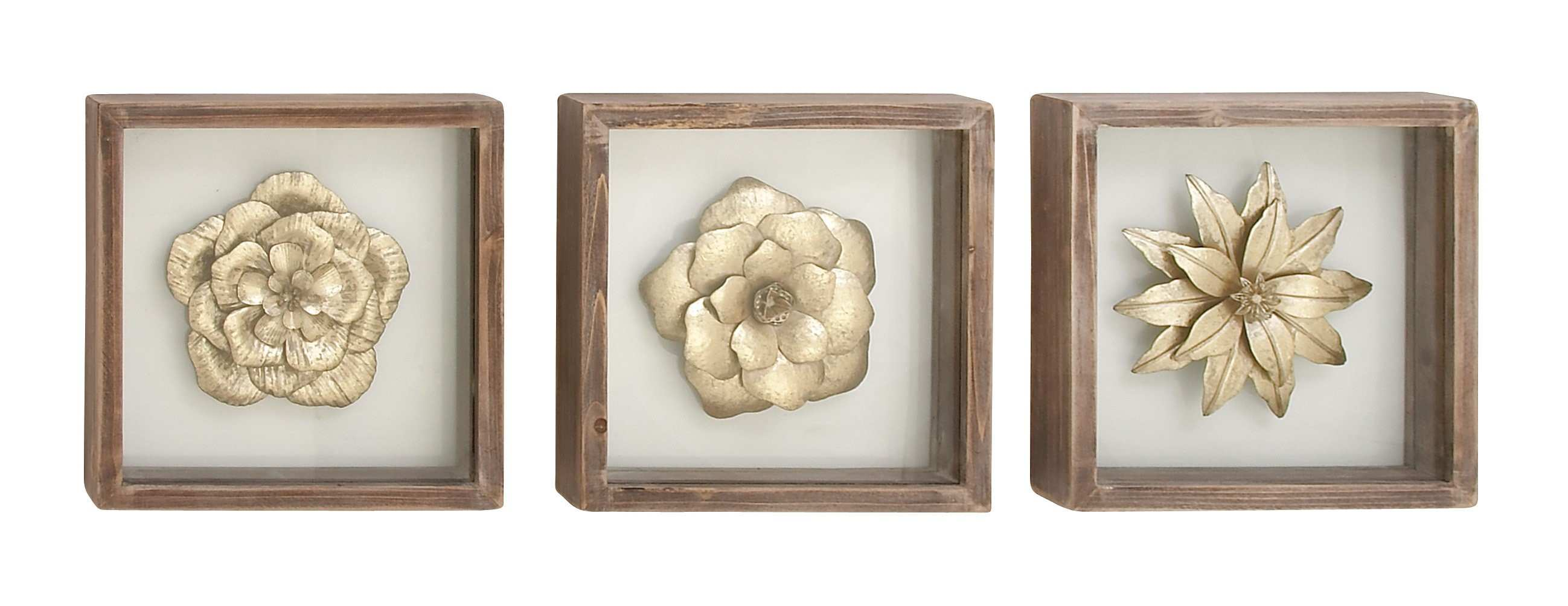 Bungalow Rose 3 Piece Metal and Wood Wall Décor Set & Reviews
