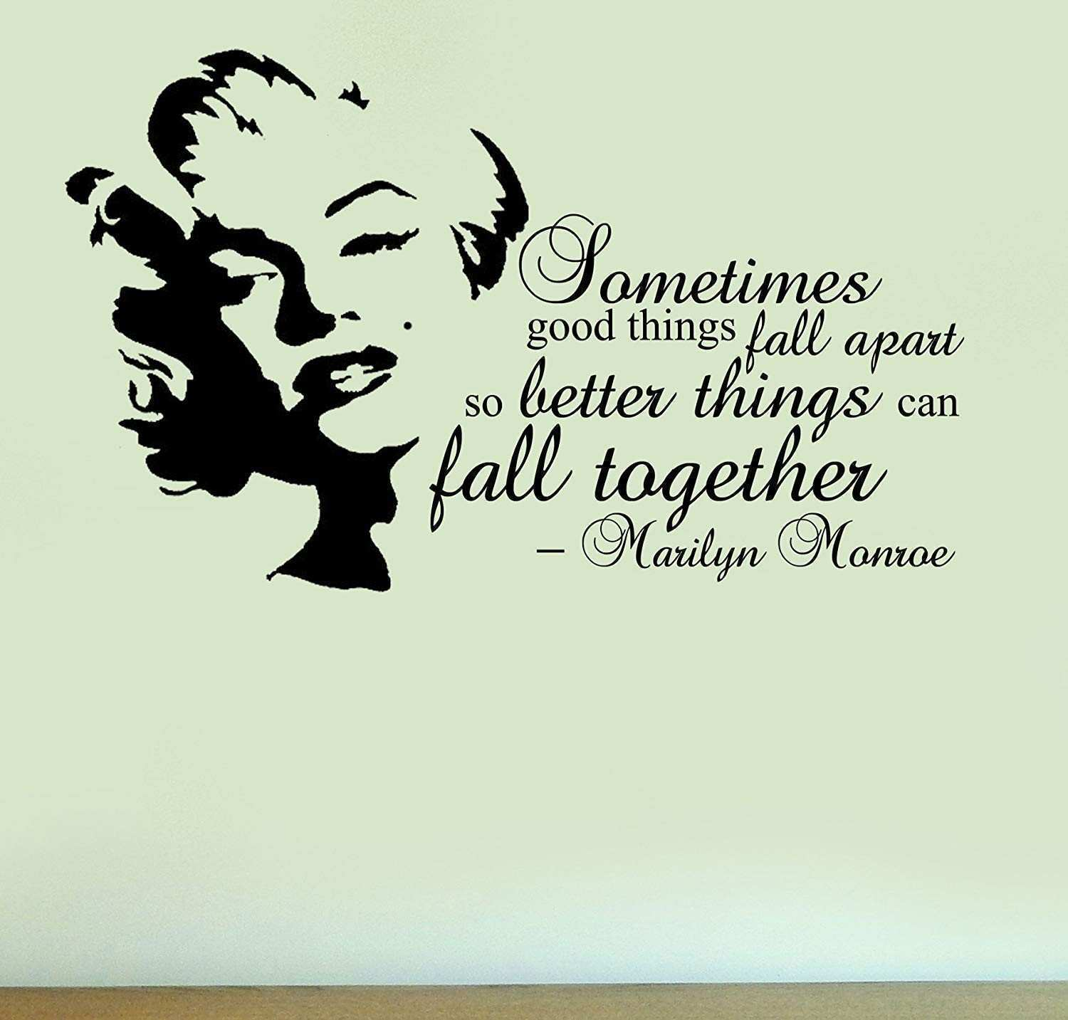 Marilyn Monroe Fall To her Quote Vinyl Wall Art Sticker Home