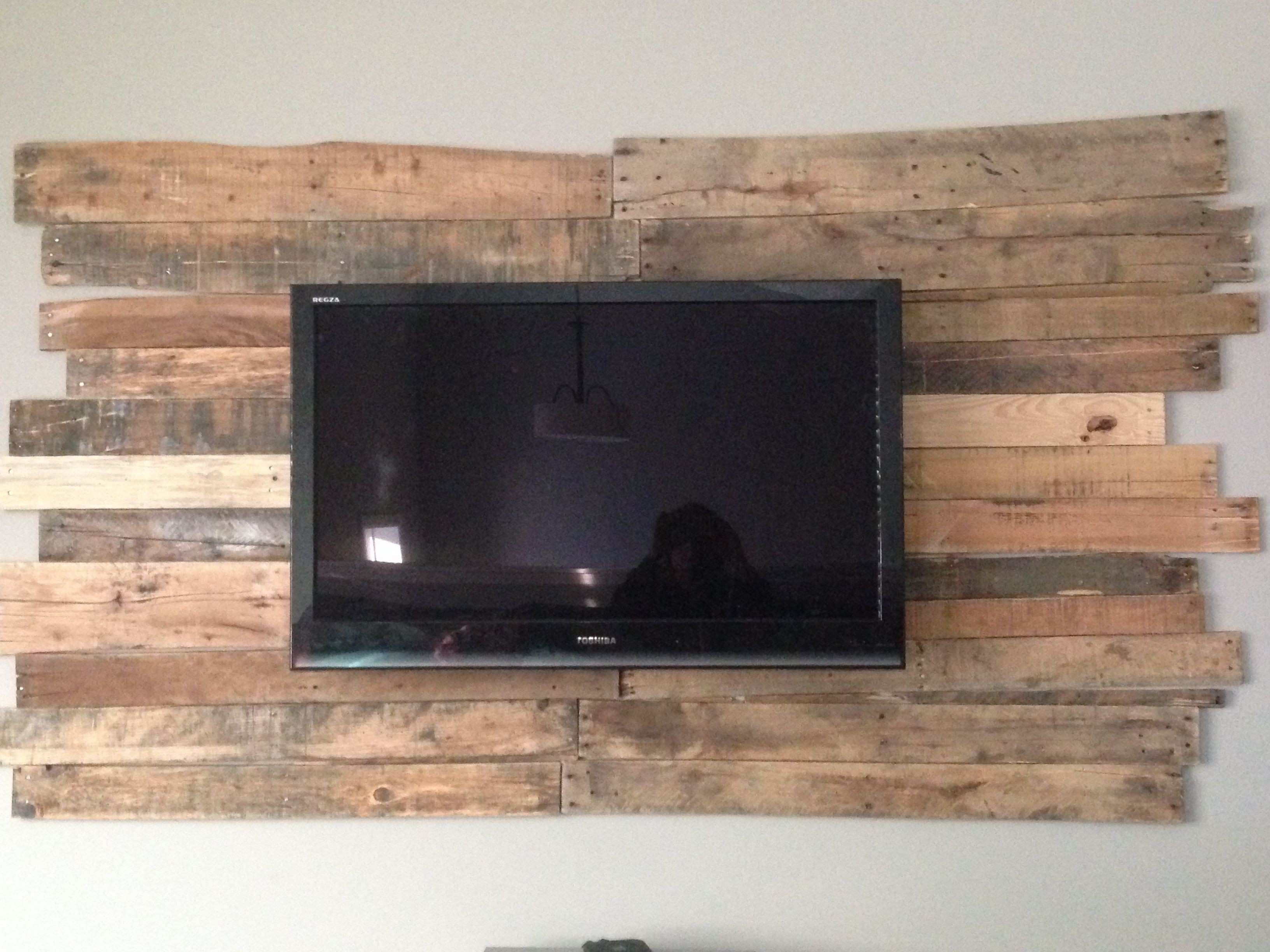 pallet wall tv Google Search Ideas for the House