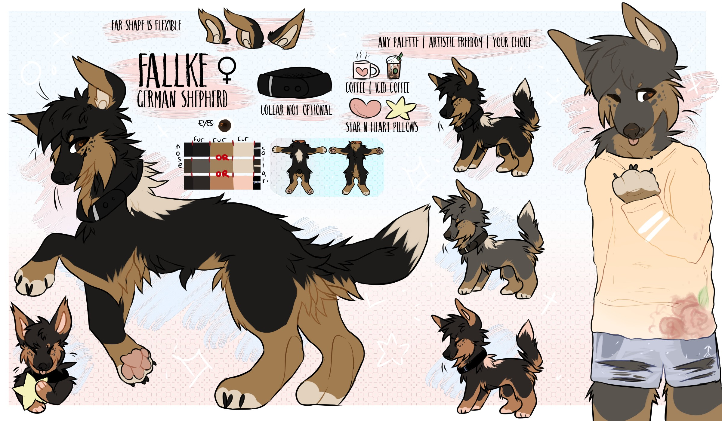 selling fursona 79 pieces of HQ art by pinewoIf on DeviantArt
