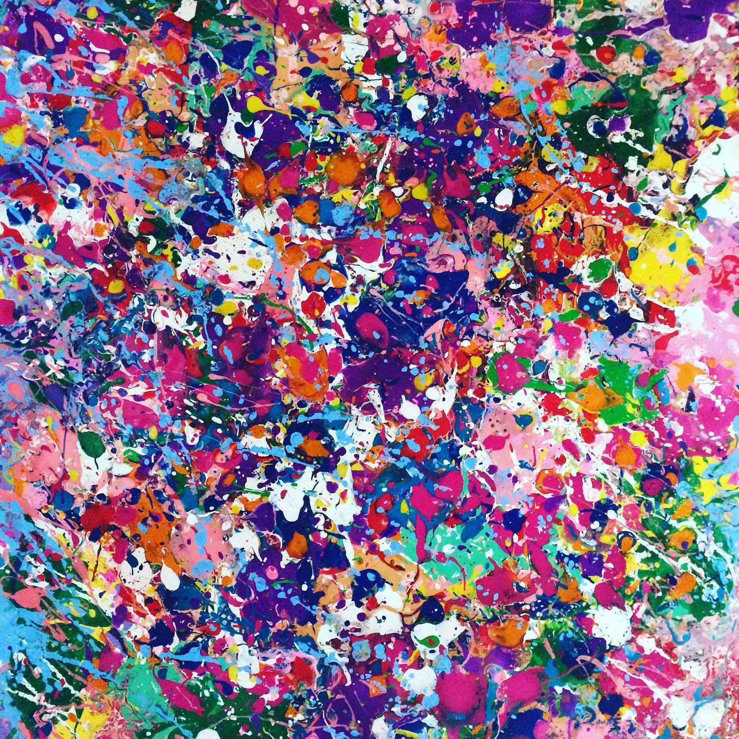 Abstract Canvas Art Splatter Painting Colorful Painting Wall