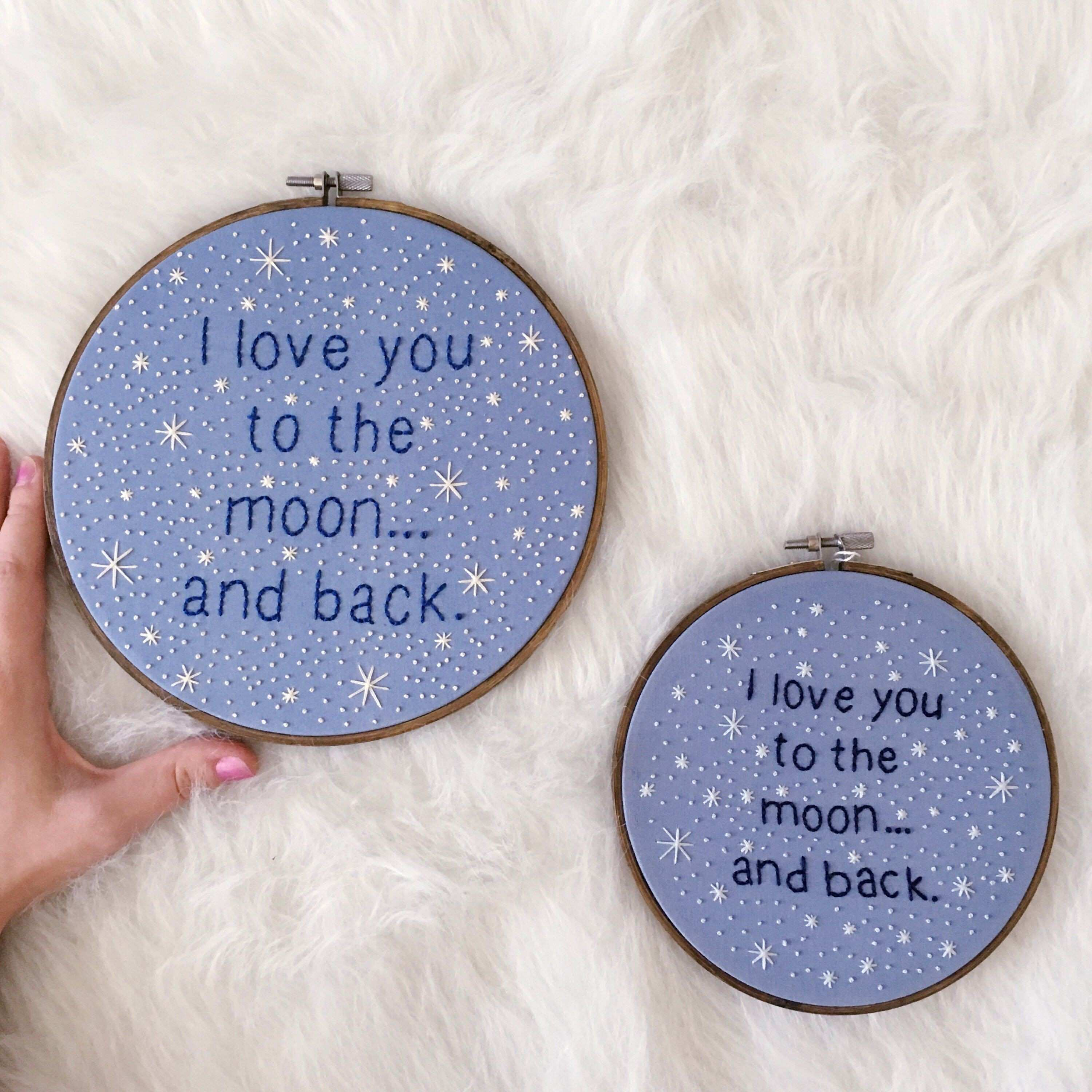 I Love You To The Moon And Back Art Moon and Back Art Nursery