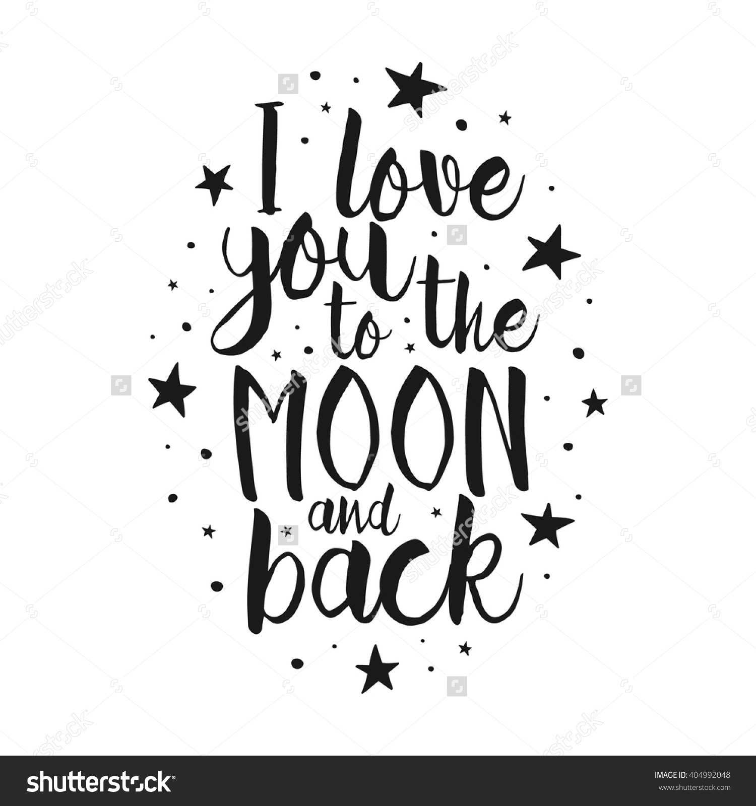 Quote I Love You To The Moon And Back Custom I Love You To The Moon