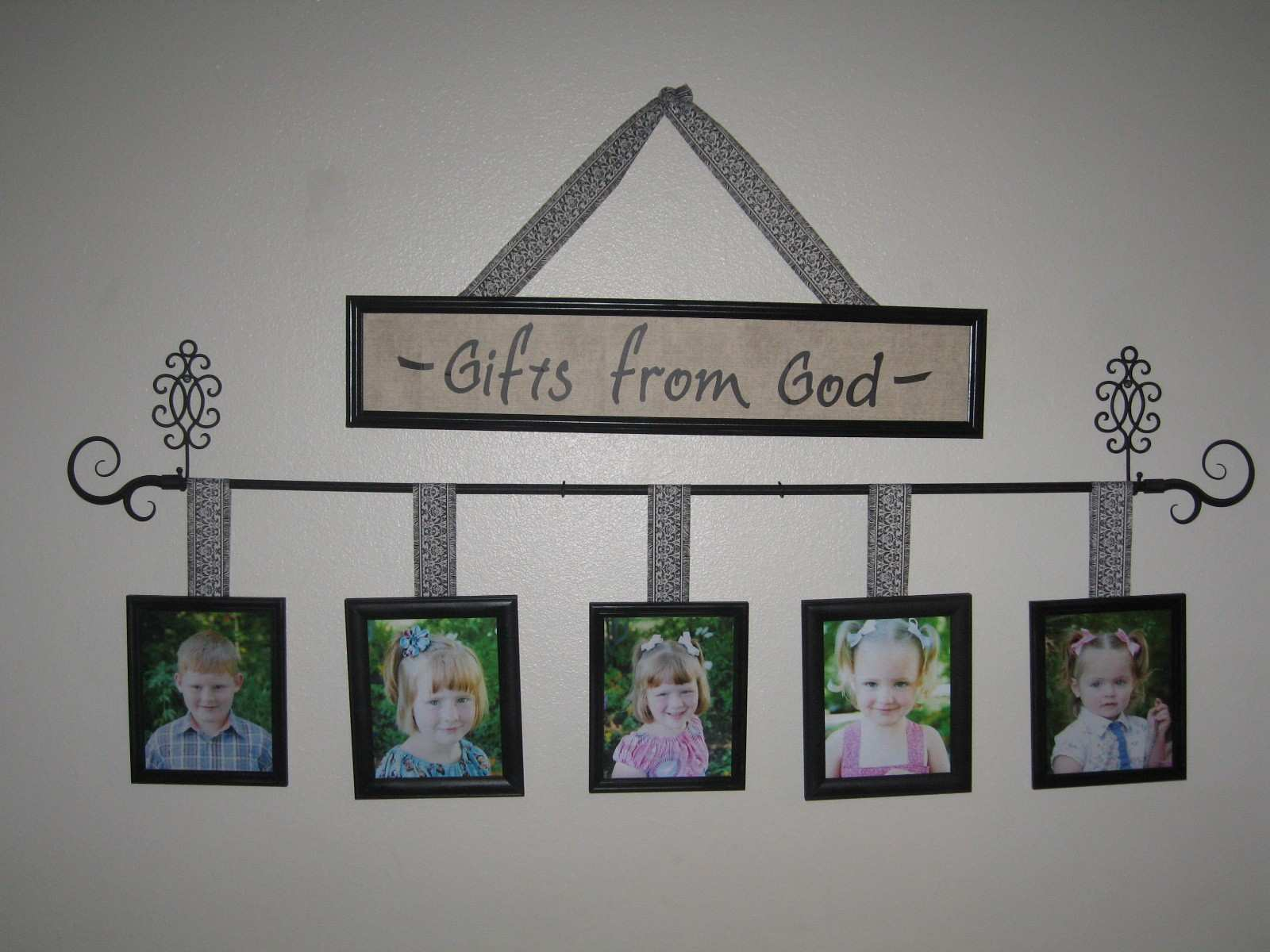 Living Room Wall Frames Ideas String Collage Clip Set Hanging