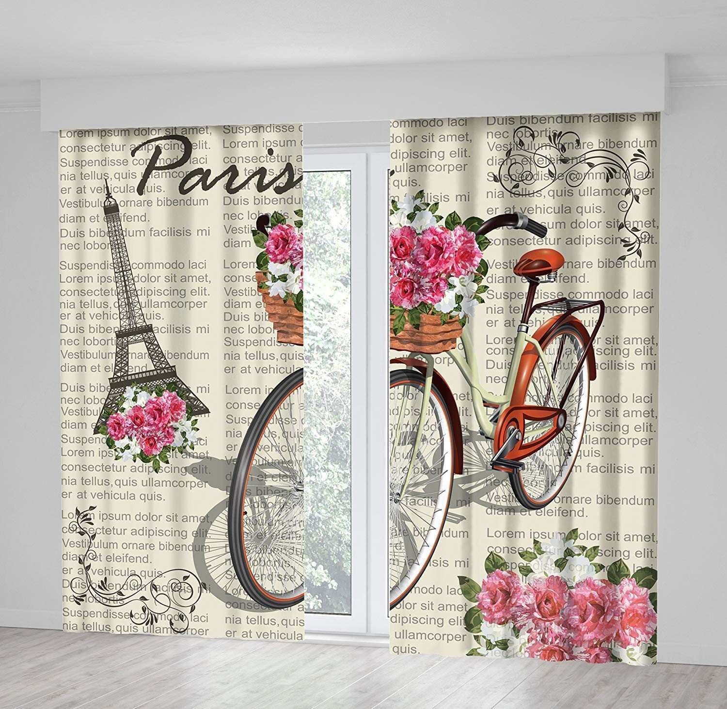 Ikat Print Wall Art Inspirational Amazon Positive Home Paris Eiffelturm Rose Zweige Blumen Blätter