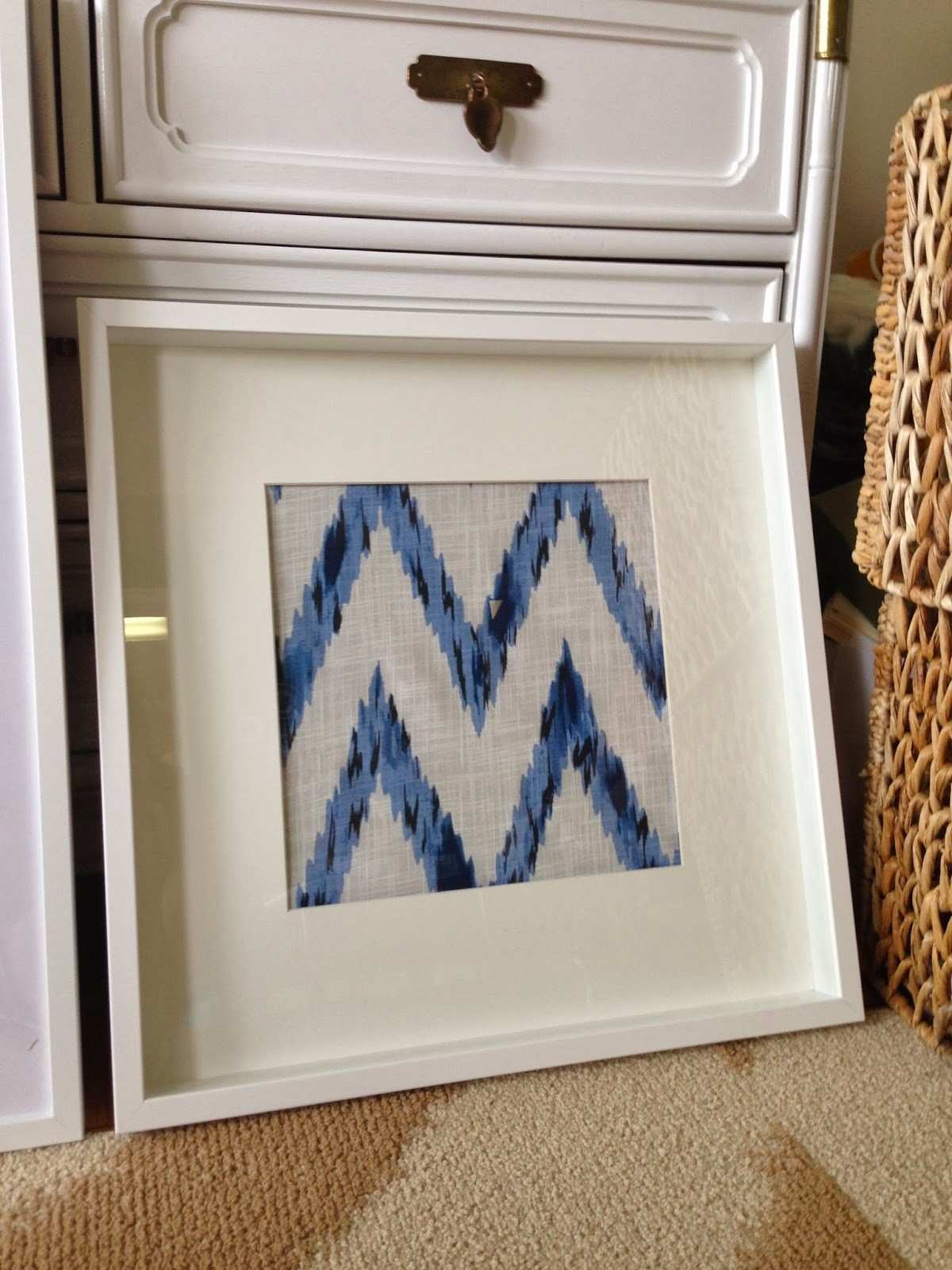 Ikat Print Wall Art Luxury Sanity Fair $24 Pottery Barn Hack
