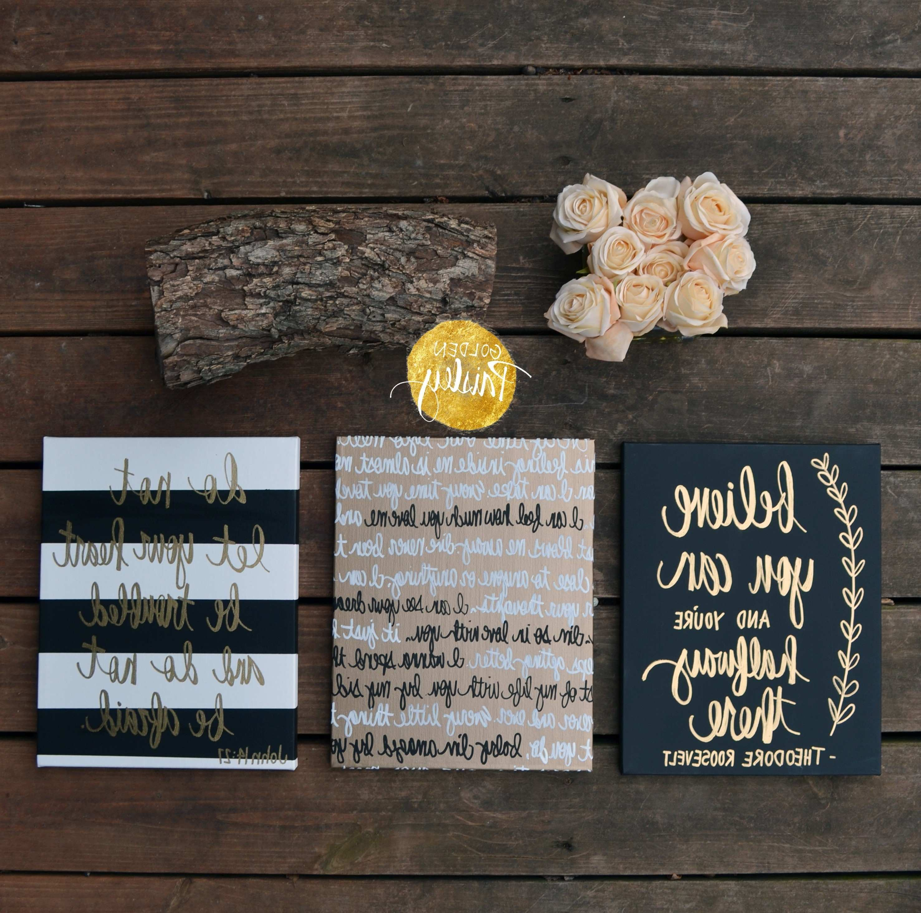 Top 15 of Custom Quote Canvas Wall Art