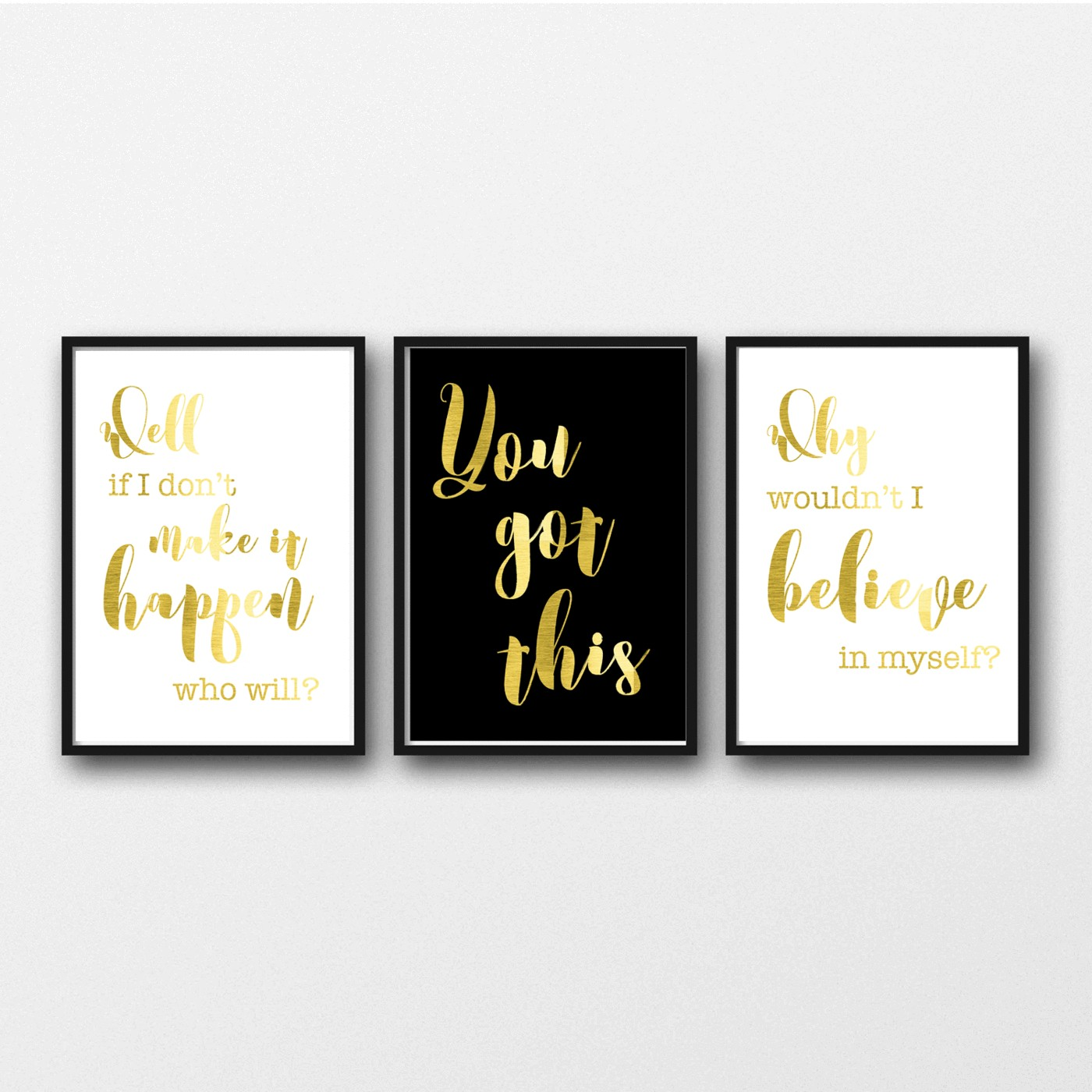 Gold Foil set of 3 Prints fice Inspiration – Peppa Penny