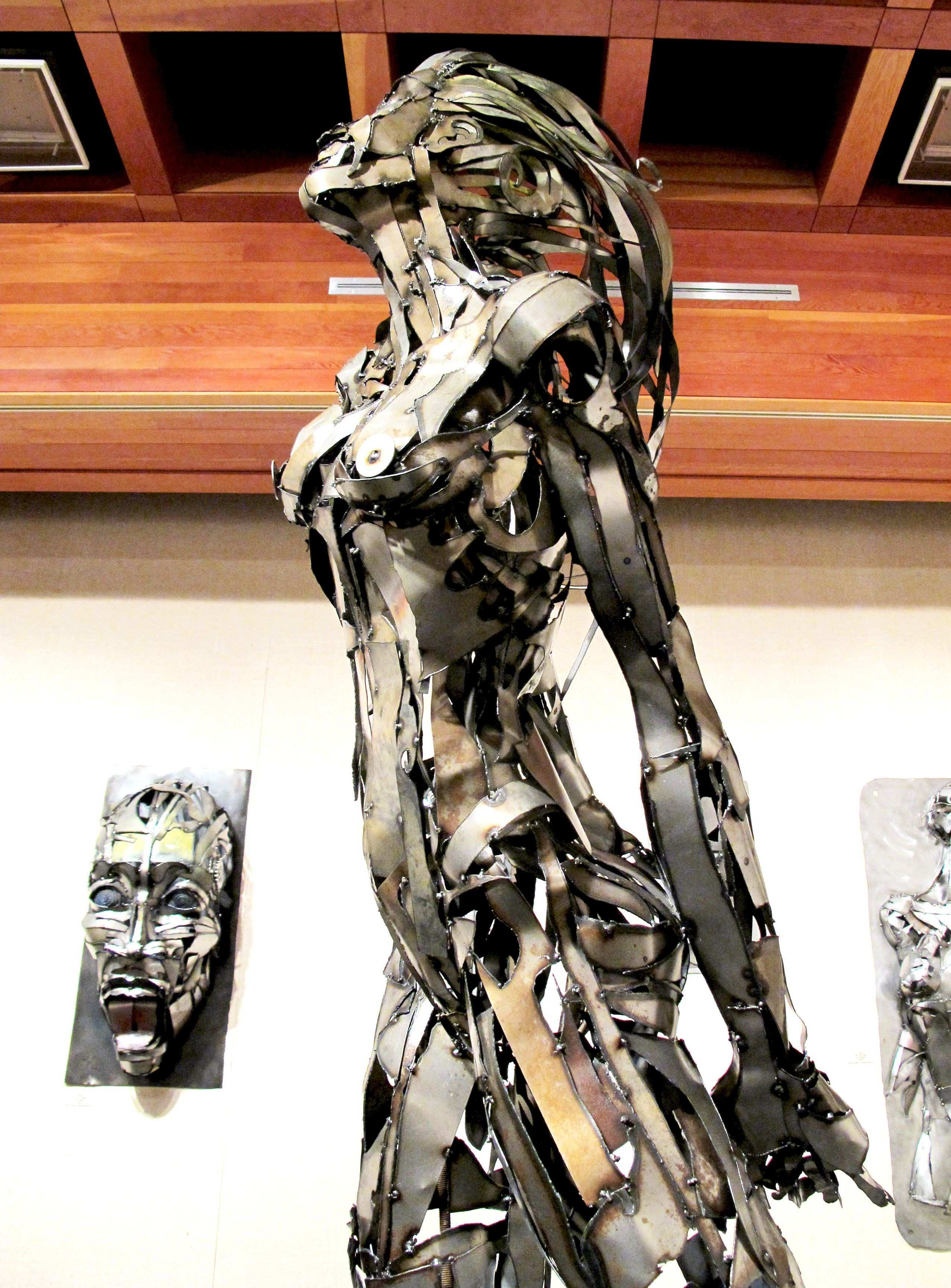 Woman Metal Art Sculpture created by Joel Sullivan of Iron Designs