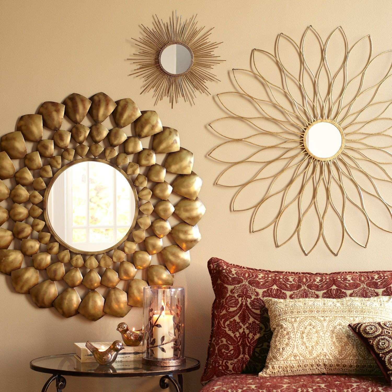Living Room Metal Wall Decor Luxury Home Designs Mirror for Living