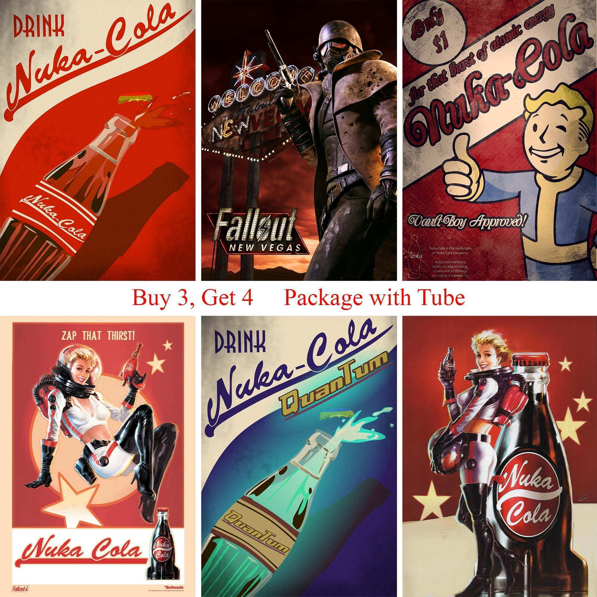 Fallout 4 Game Posters High Quality Wall Stickers White Coated Paper