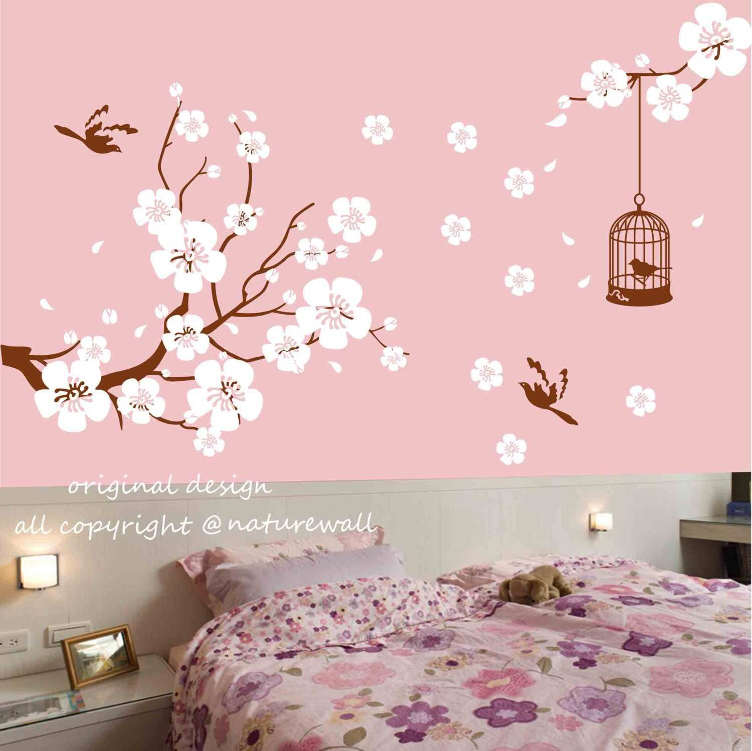 New Wall Decals Japanese Cherry Blossoms