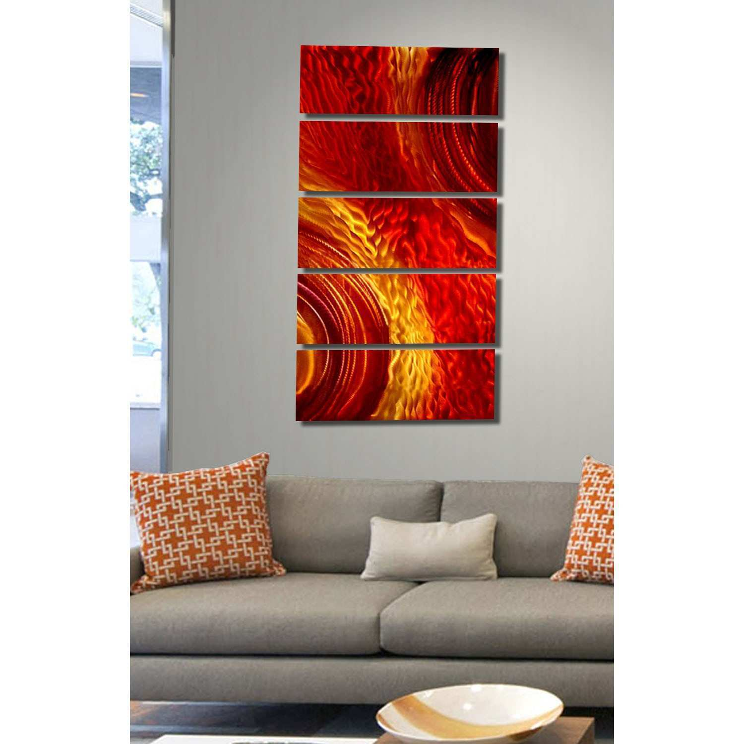 Red And Gold Metal Wall Art Fascinating Wall Art Designs Extra
