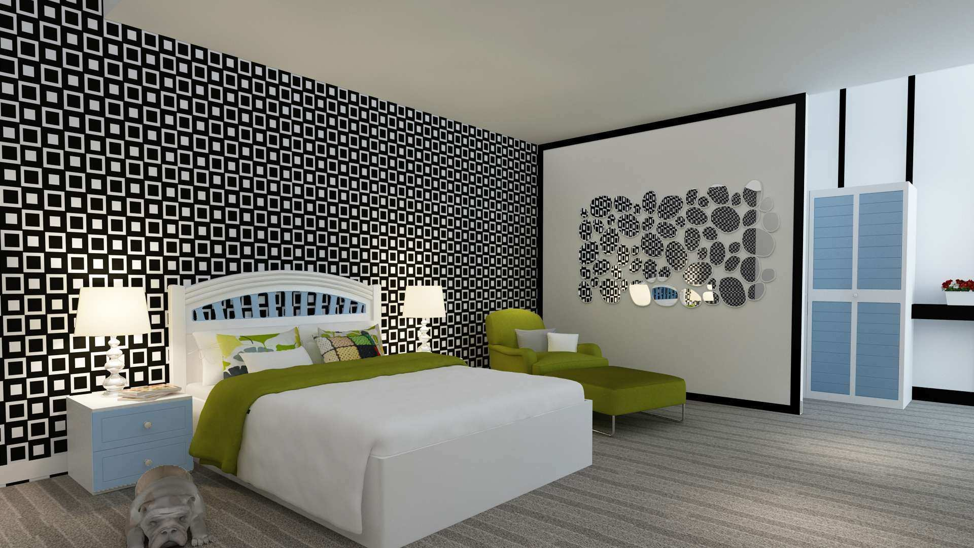 Kids Bedroom Wall Stickers Awesome Green Exterior Wall Art toward